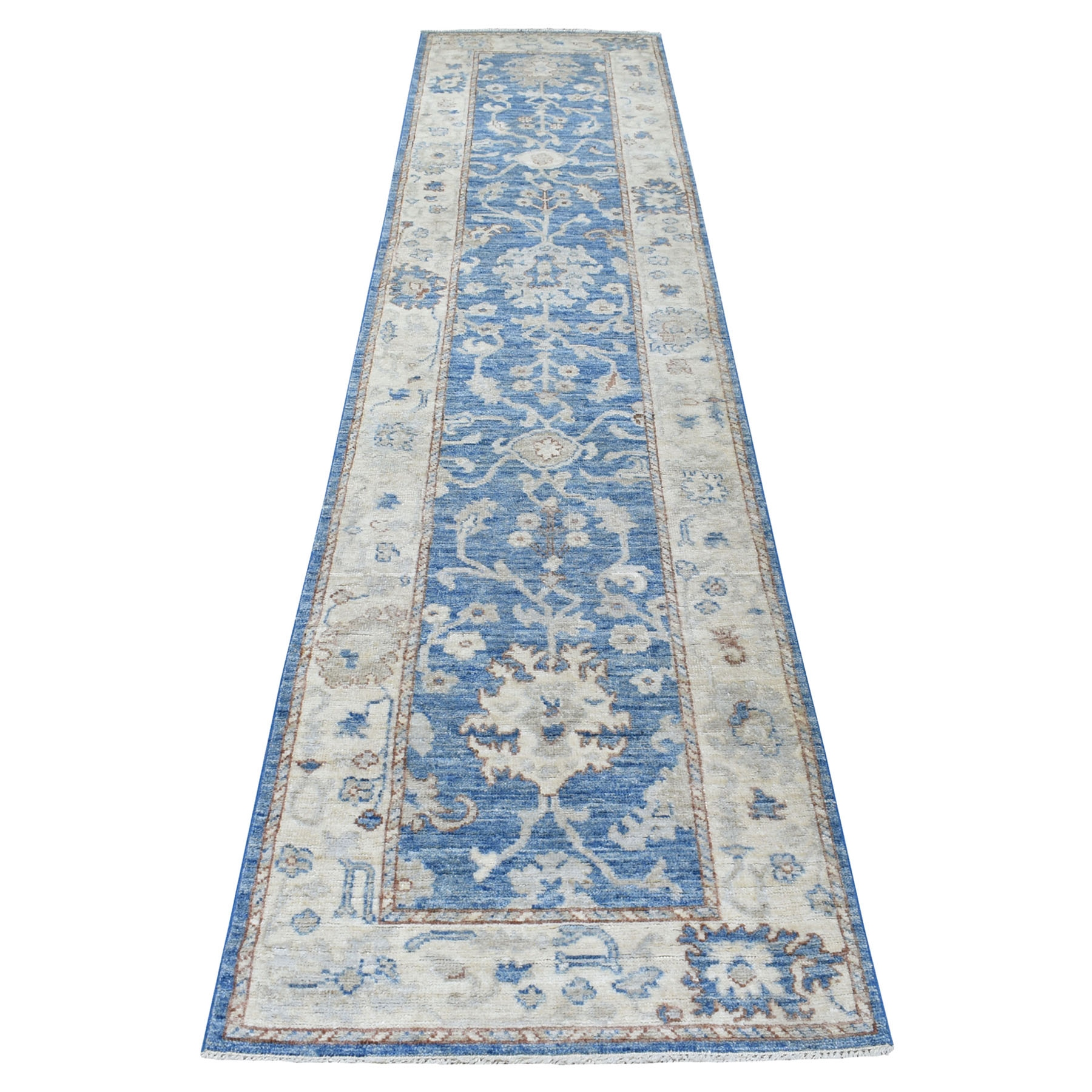 Agra And Turkish Collection Hand Knotted Blue Rug No: 1112948