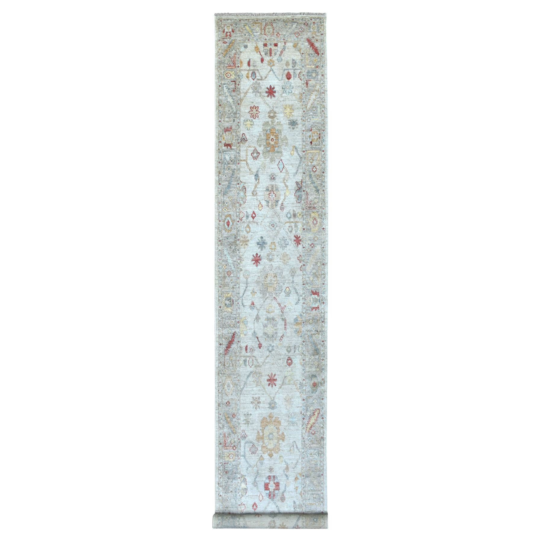 Agra And Turkish Collection Hand Knotted Grey Rug No: 1112954