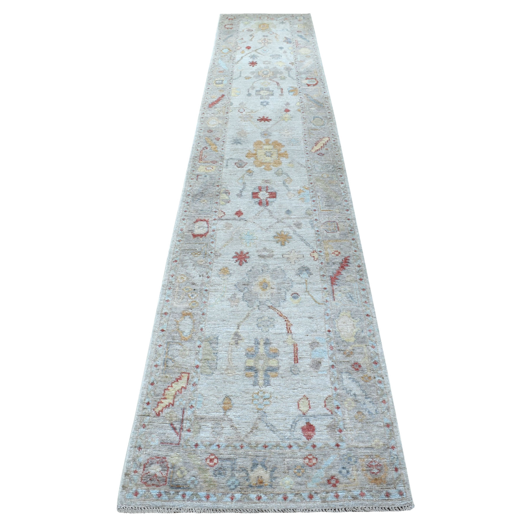 Agra And Turkish Collection Hand Knotted Grey Rug No: 1113128