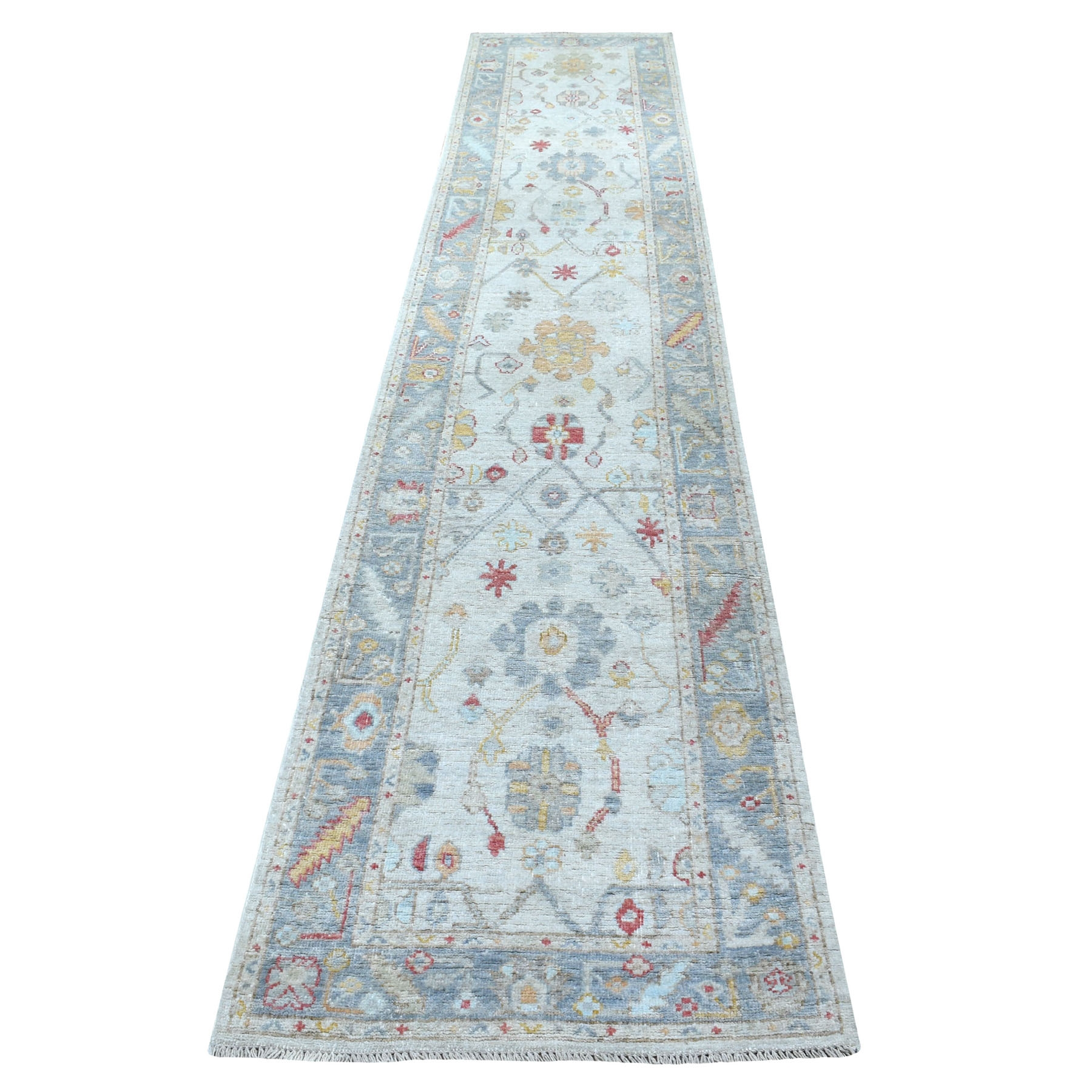 Agra And Turkish Collection Hand Knotted Grey Rug No: 1113132