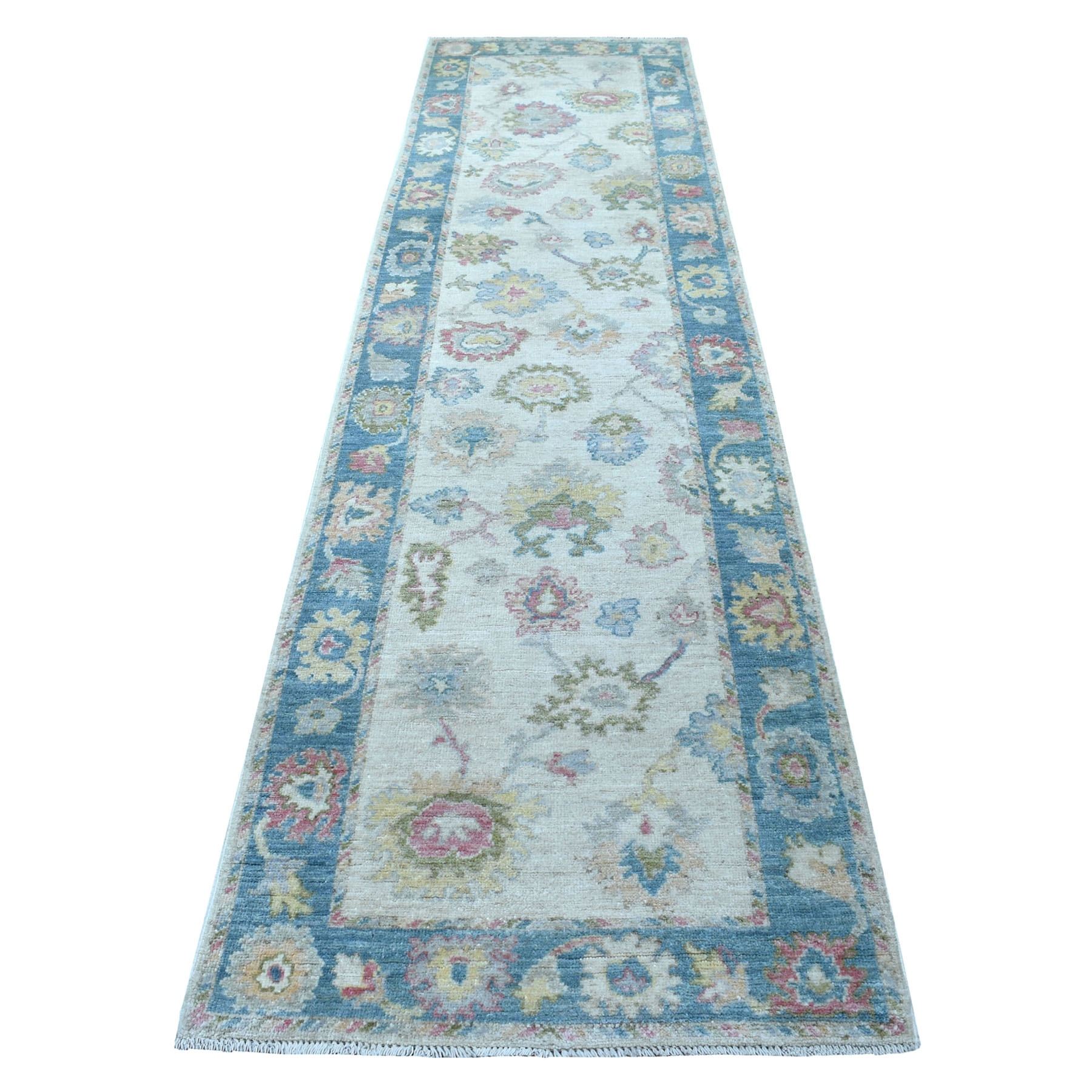 Agra And Turkish Collection Hand Knotted Ivory Rug No: 1113136