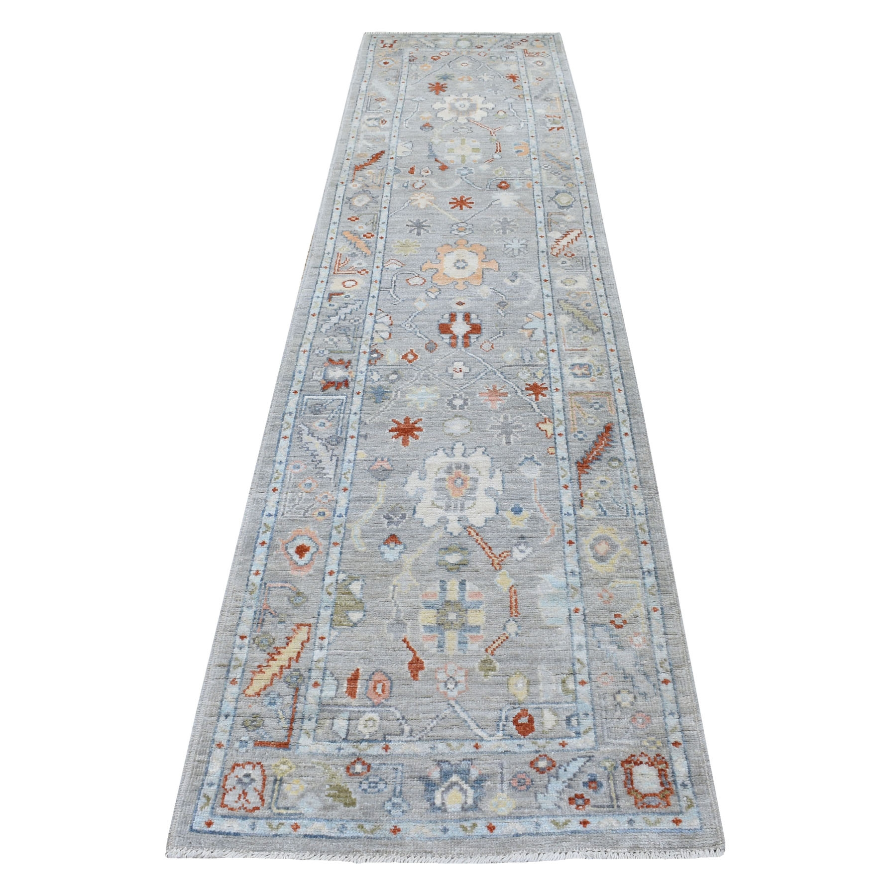 Agra And Turkish Collection Hand Knotted Grey Rug No: 1113138