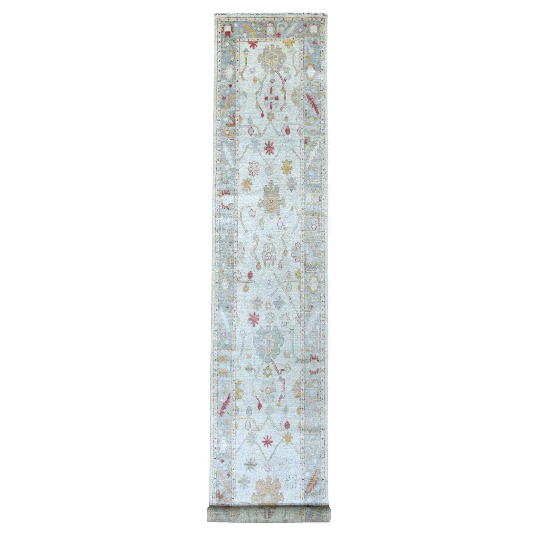 Agra And Turkish Collection Hand Knotted Ivory Rug No: 1113140
