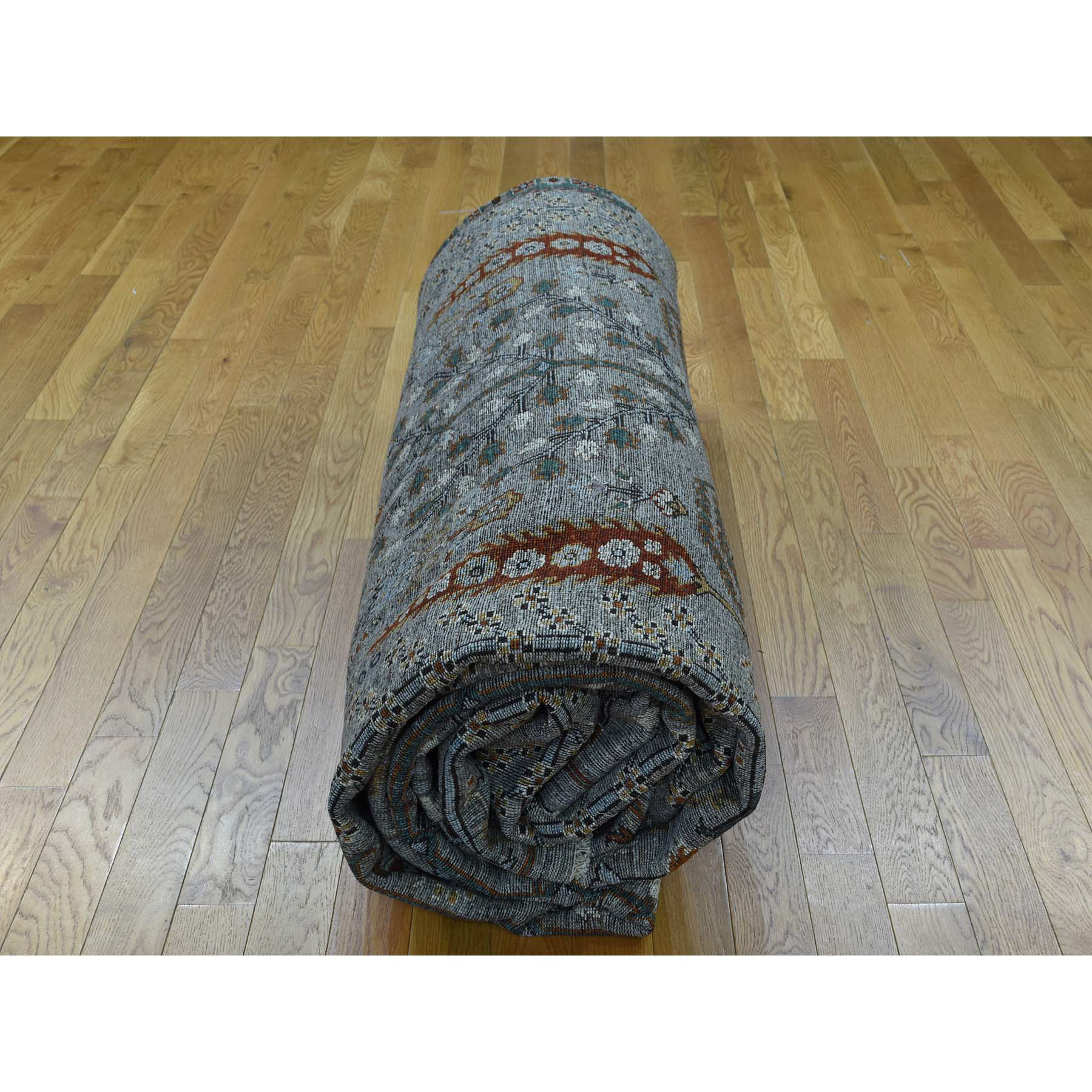 Nomadic And Village Collection Hand Knotted Grey 0169412 Rug