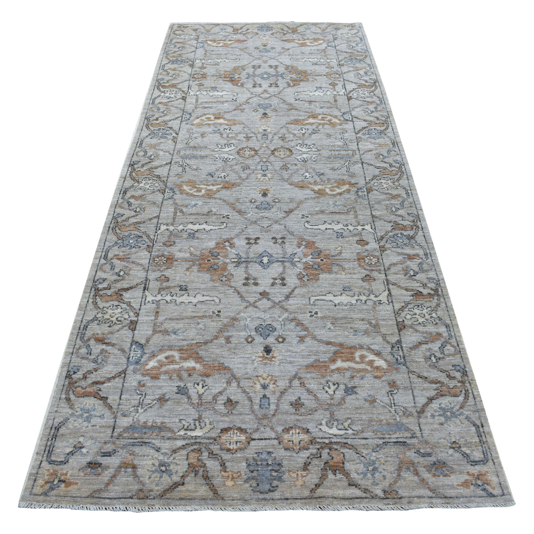Agra And Turkish Collection Hand Knotted Grey Rug No: 1113720