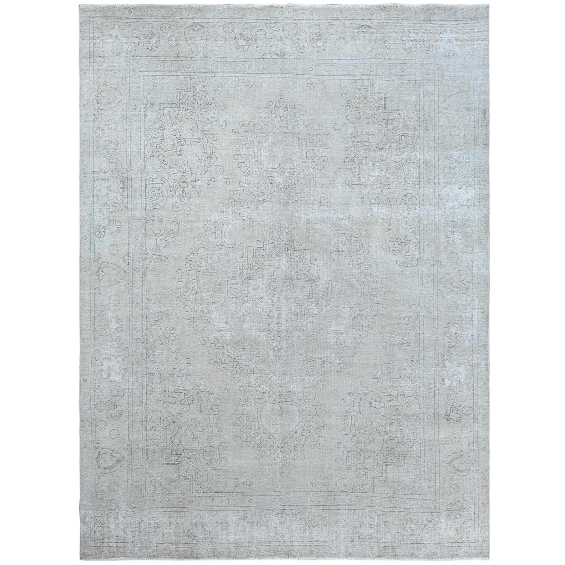 Fetneh Collection And Vintage Overdyed Collection Hand Knotted Ivory Rug No: 1120946