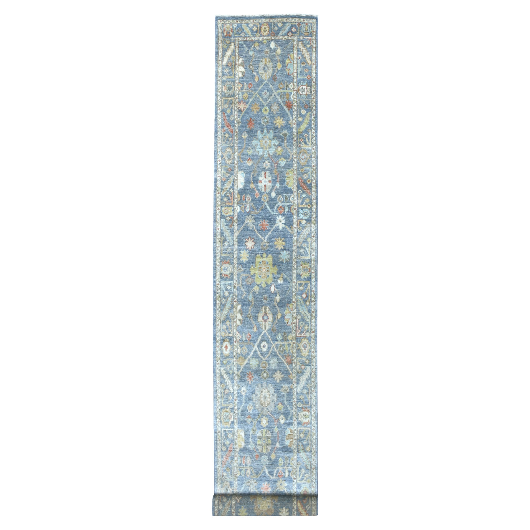 Agra And Turkish Collection Hand Knotted Blue Rug No: 1134064