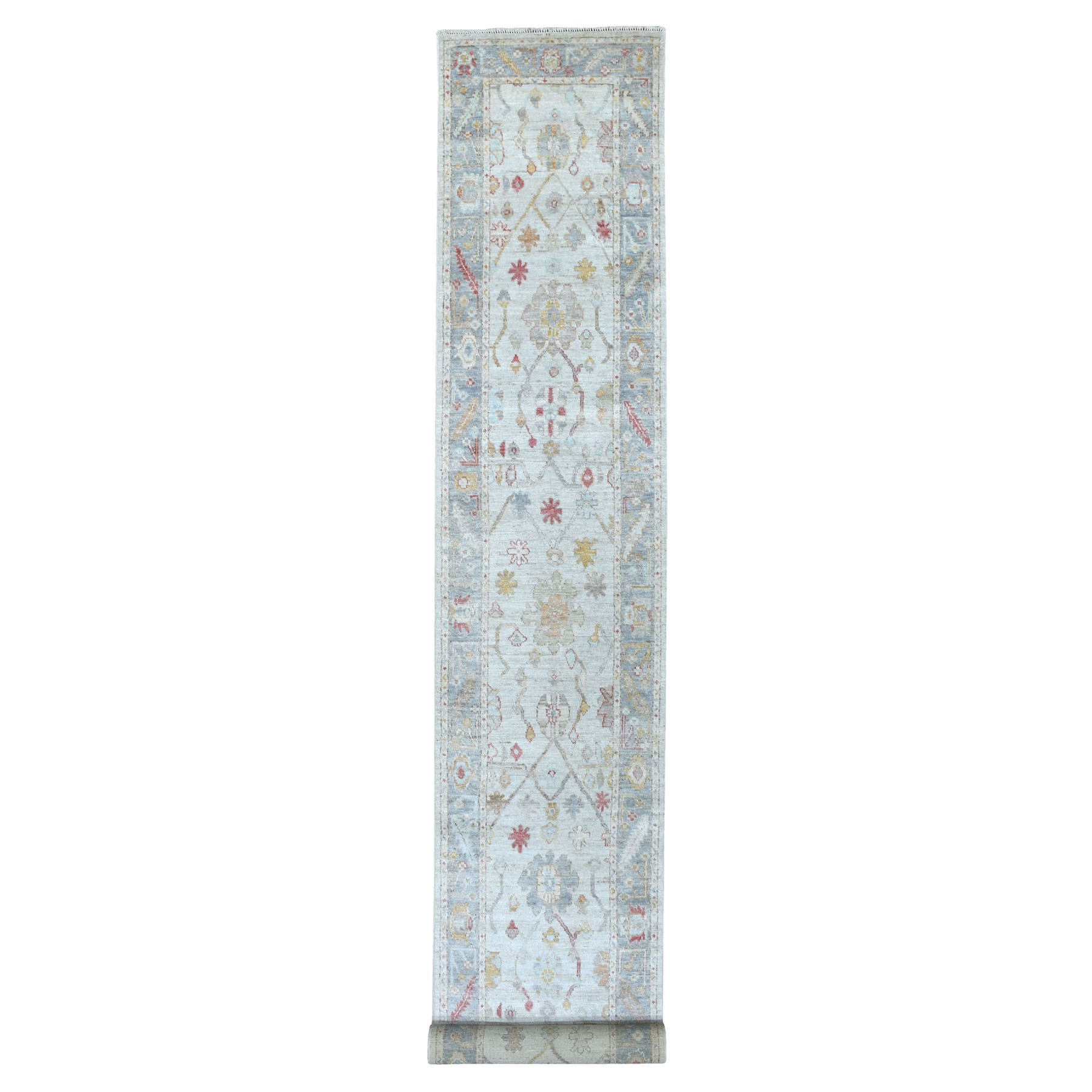 Agra And Turkish Collection Hand Knotted Grey Rug No: 1134068