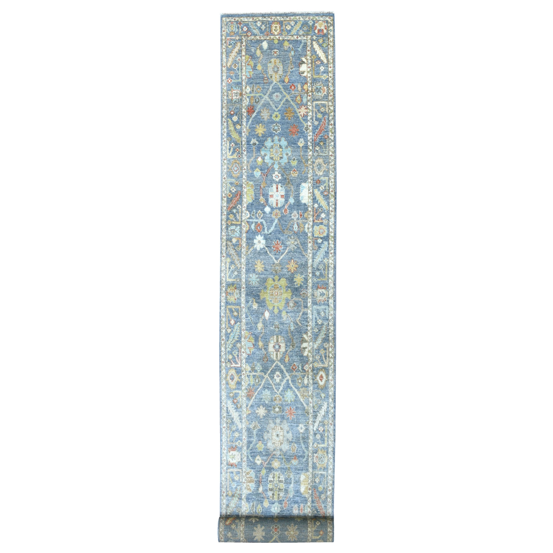 Agra And Turkish Collection Hand Knotted Blue Rug No: 1134072