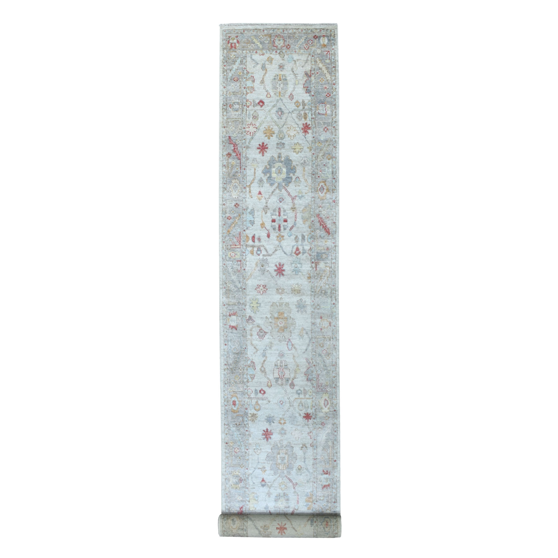 Agra And Turkish Collection Hand Knotted Grey Rug No: 1134048