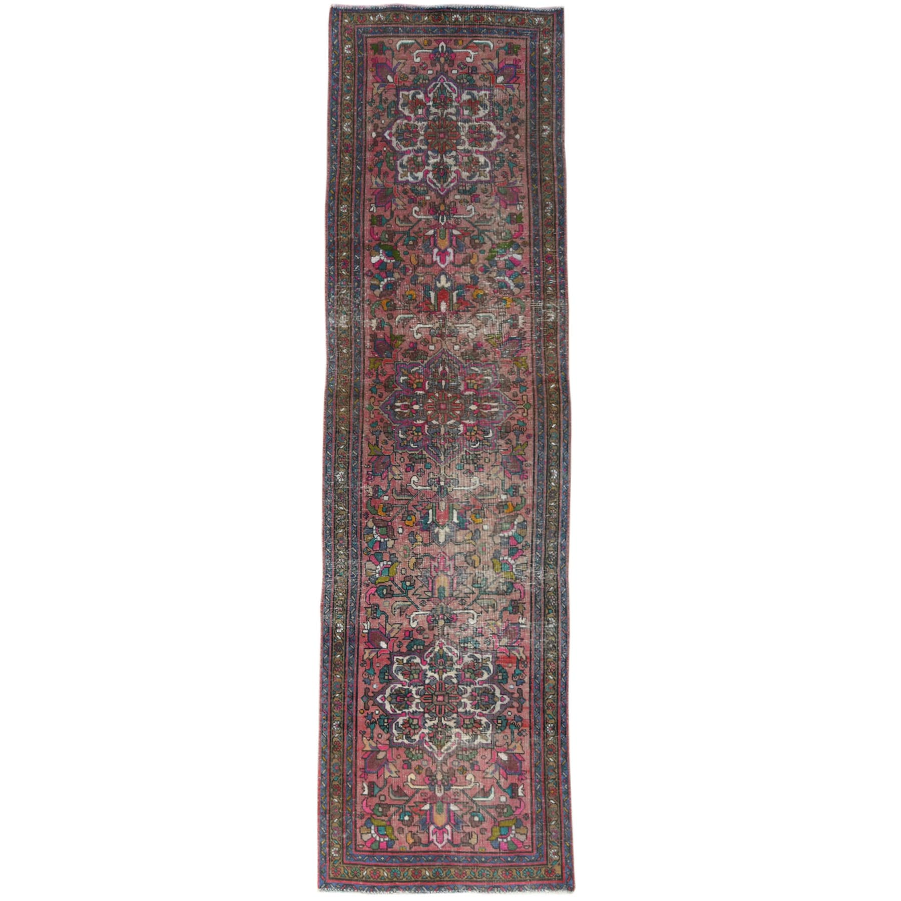 Fetneh Collection And Vintage Overdyed Collection Hand Knotted Red Rug No: 1121004
