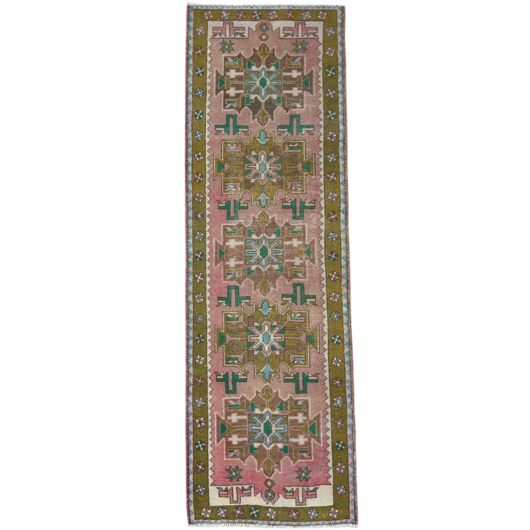 Fetneh Collection And Vintage Overdyed Collection Hand Knotted Pink Rug No: 1121008
