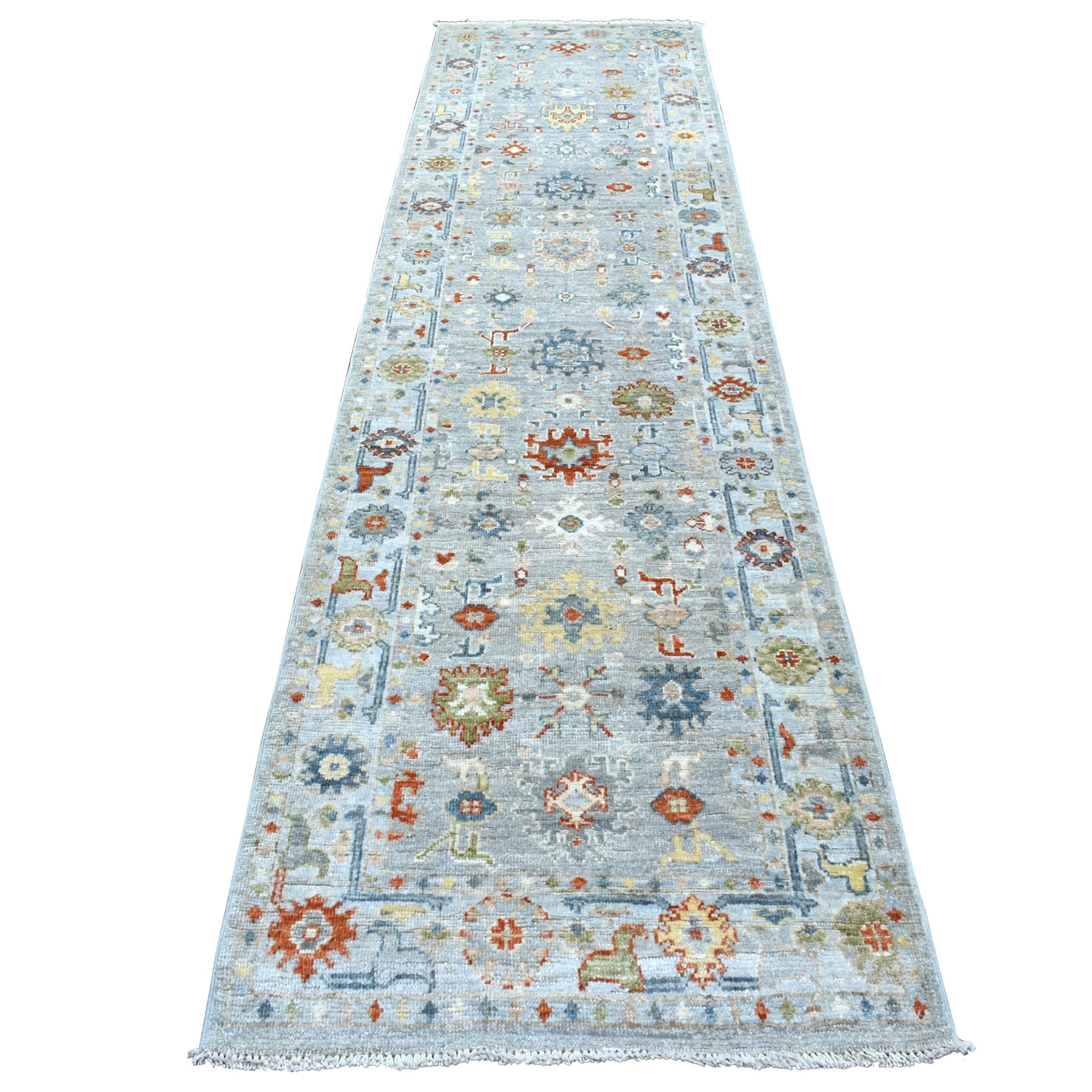 Agra And Turkish Collection Hand Knotted Grey Rug No: 1112530