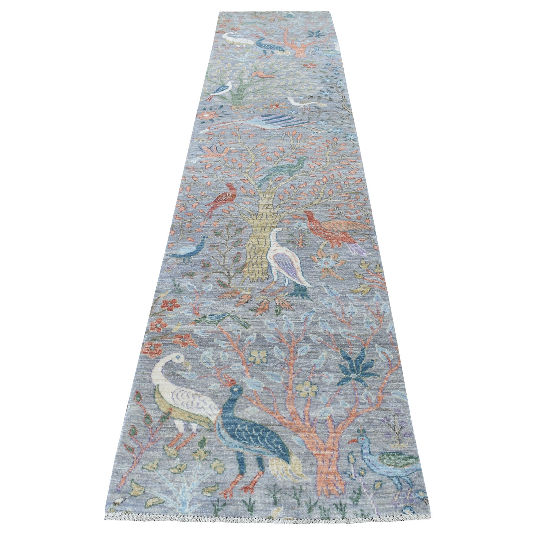 Agra And Turkish Collection Hand Knotted Grey Rug No: 1134146