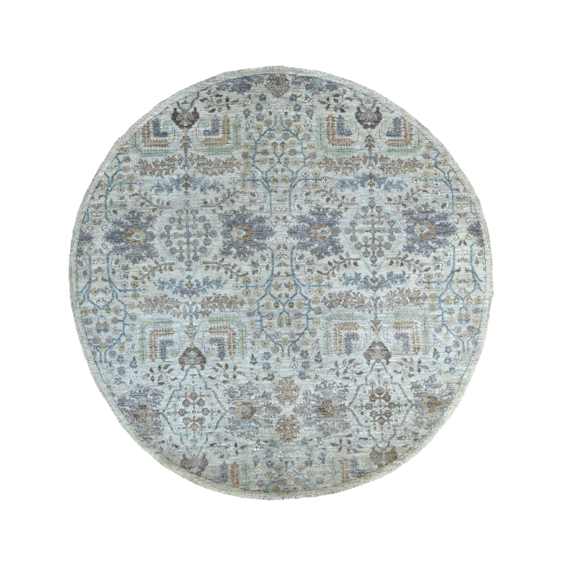 Agra And Turkish Collection Hand Knotted Grey Rug No: 1134316