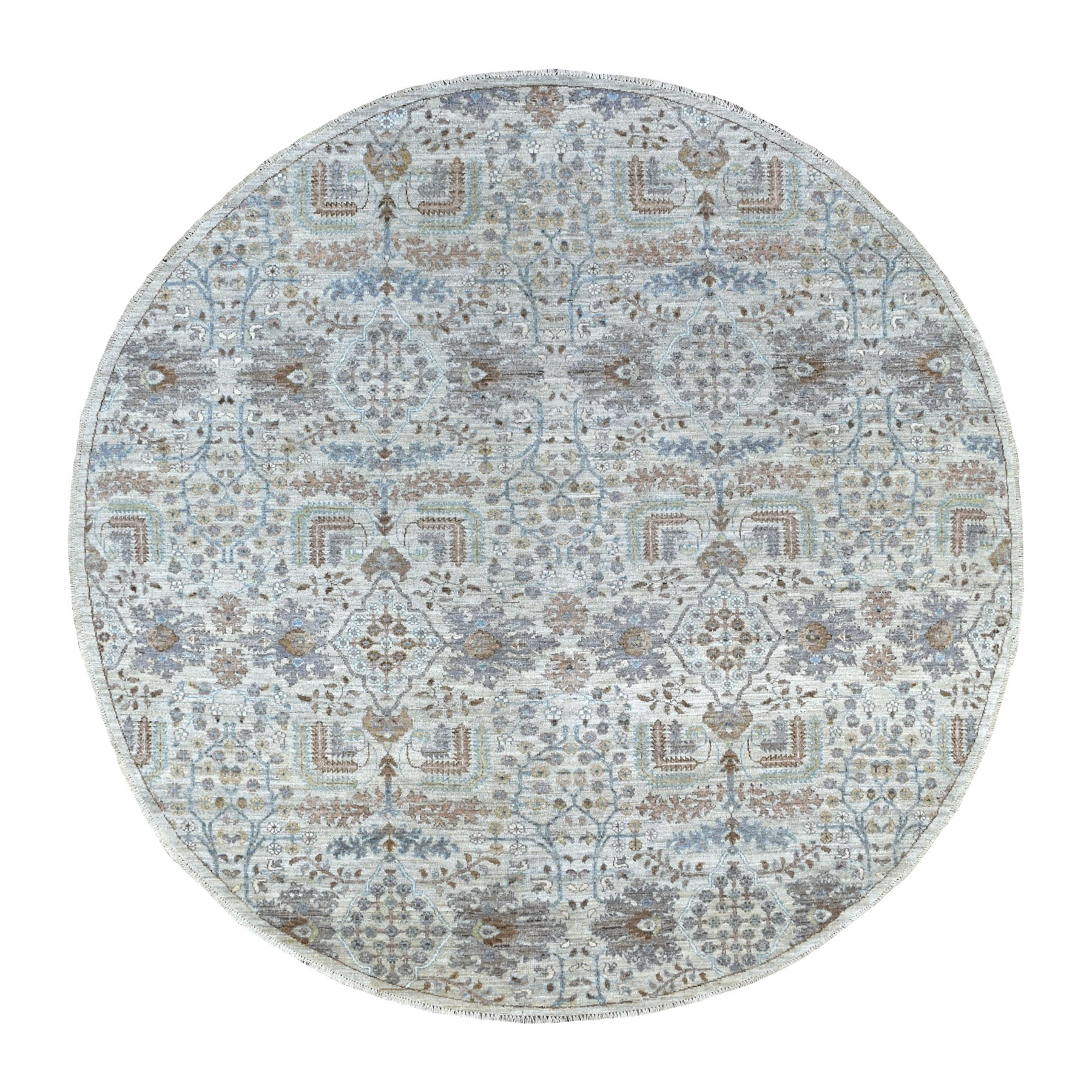 Agra And Turkish Collection Hand Knotted Grey Rug No: 1134312