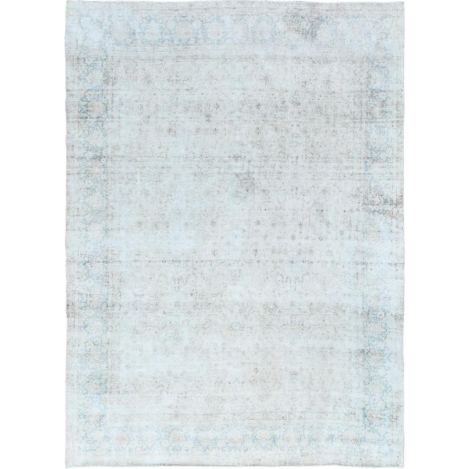 Fetneh Collection And Vintage Overdyed Collection Hand Knotted Ivory Rug No: 1121058
