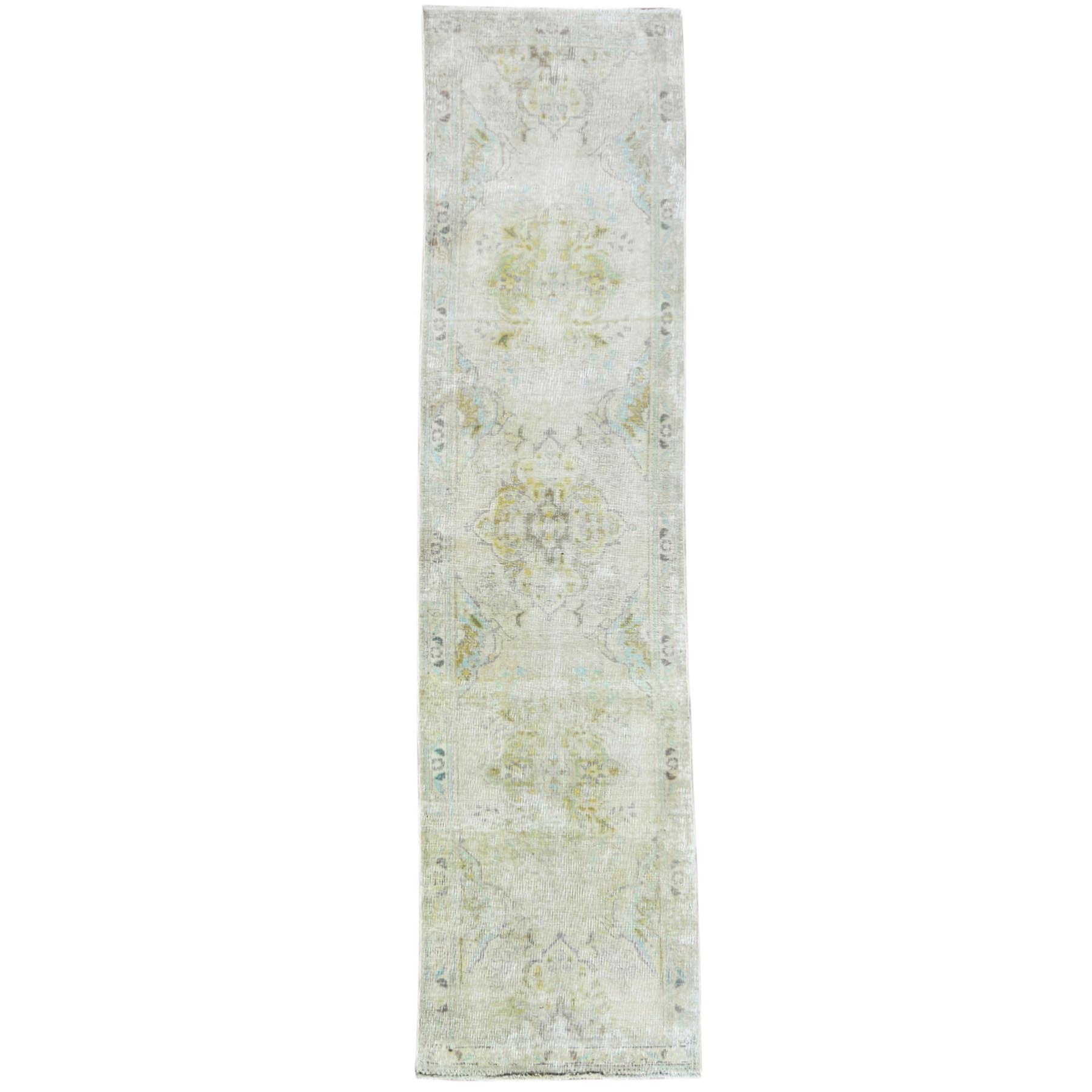 Fetneh Collection And Vintage Overdyed Collection Hand Knotted Ivory Rug No: 1121034