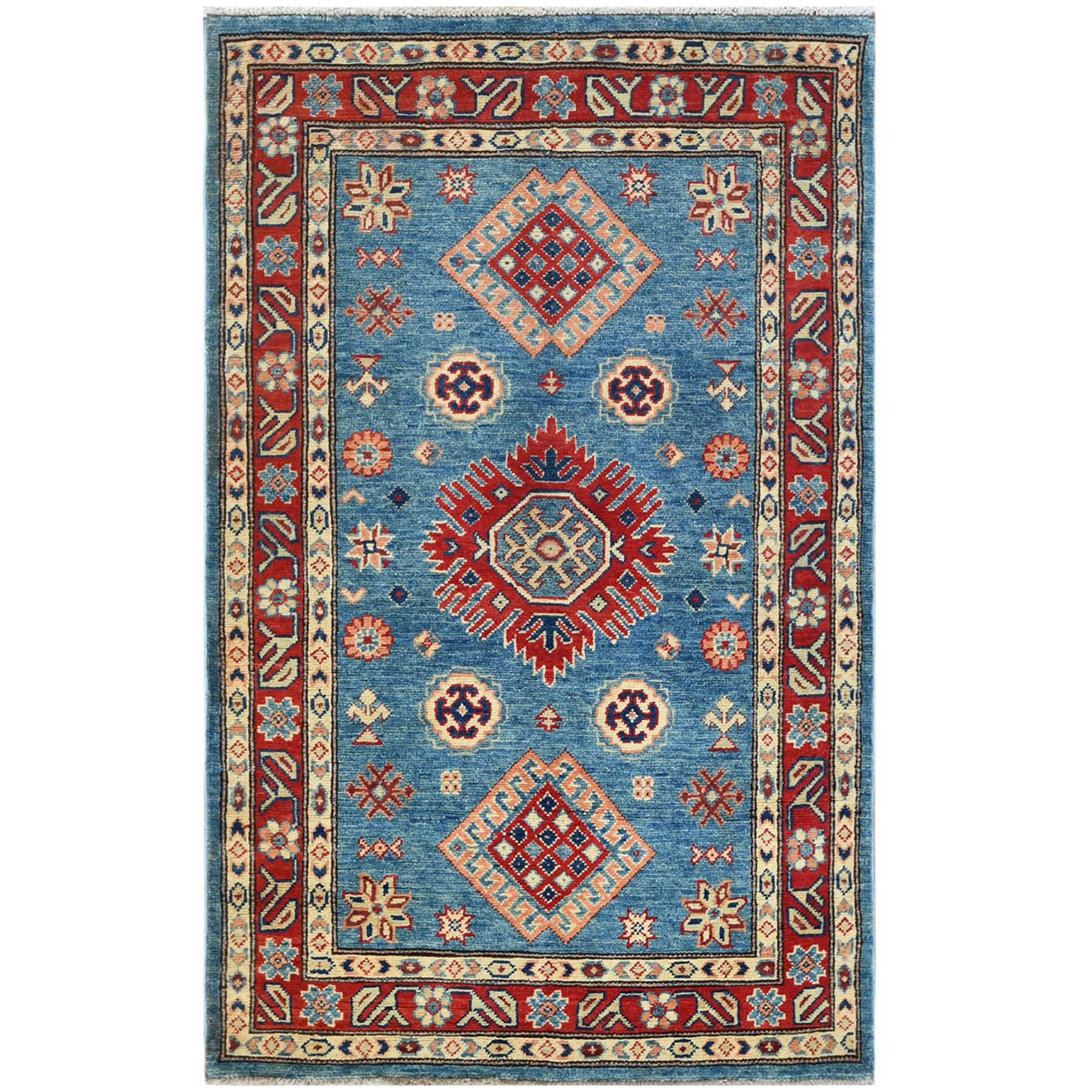 Caucasian Collection Hand Knotted Blue Rug No: 1121472