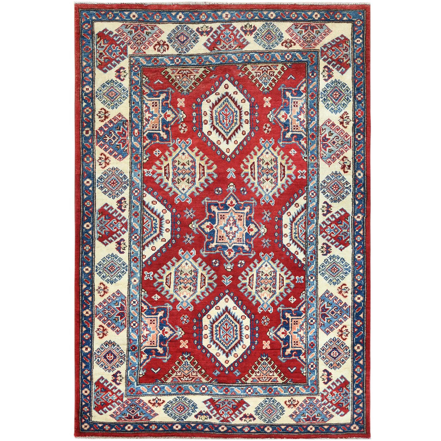 Caucasian Collection Hand Knotted Red Rug No: 1121482