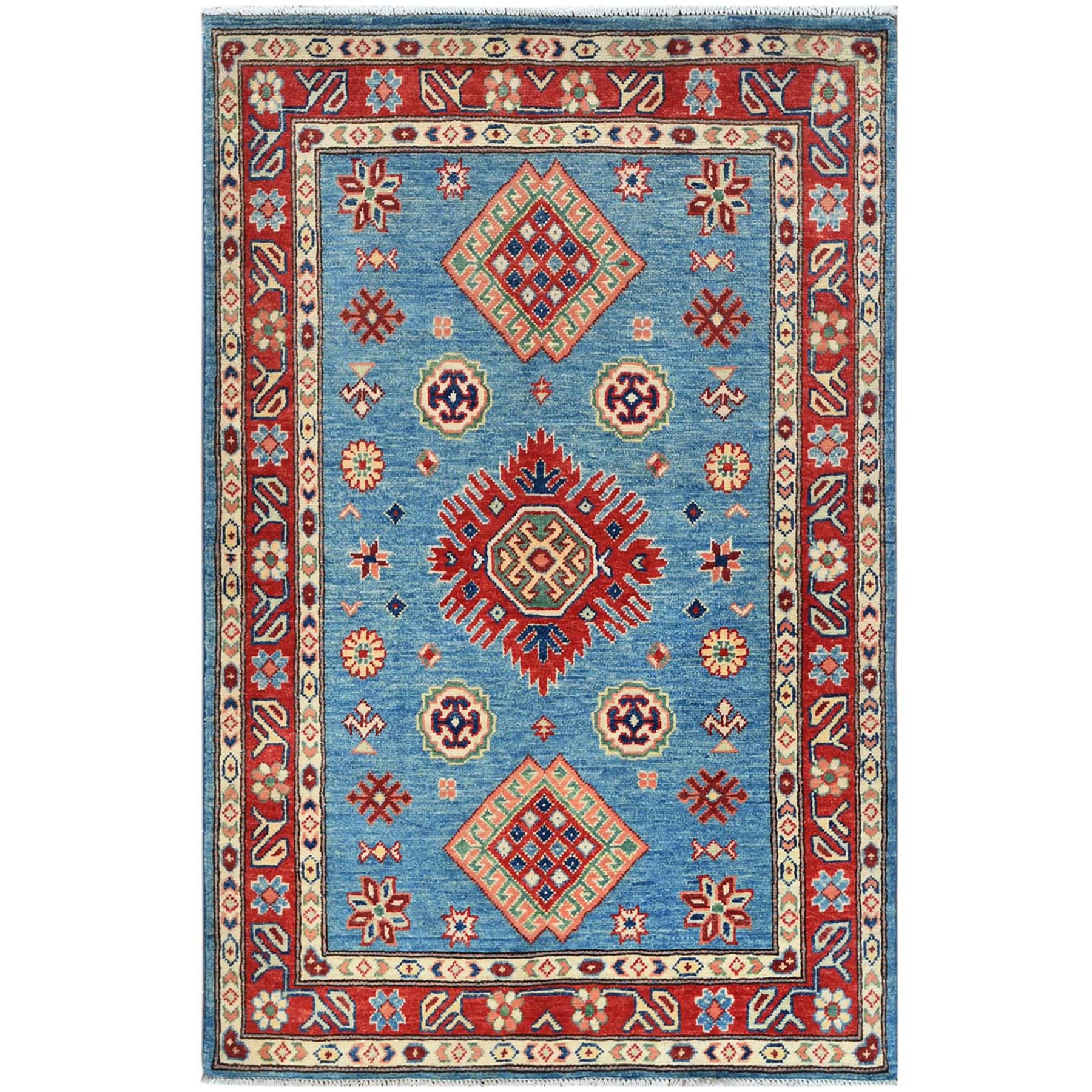 Caucasian Collection Hand Knotted Blue Rug No: 1121476