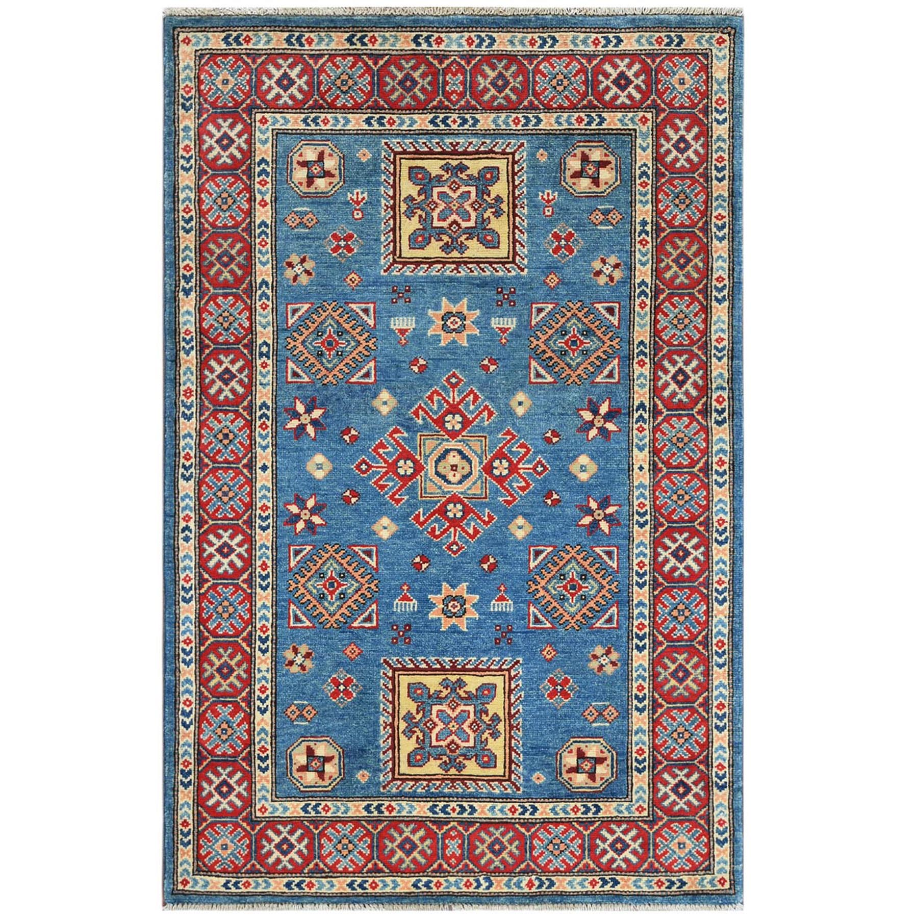Caucasian Collection Hand Knotted Blue Rug No: 1121474