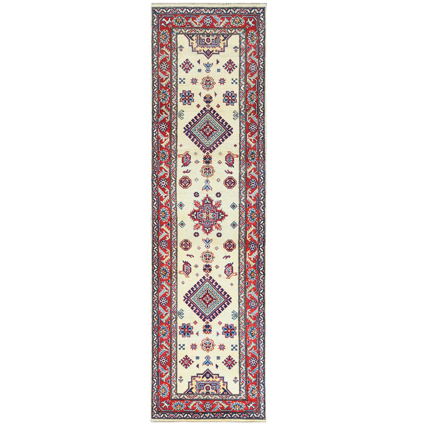 Caucasian Collection Hand Knotted Ivory Rug No: 1121450
