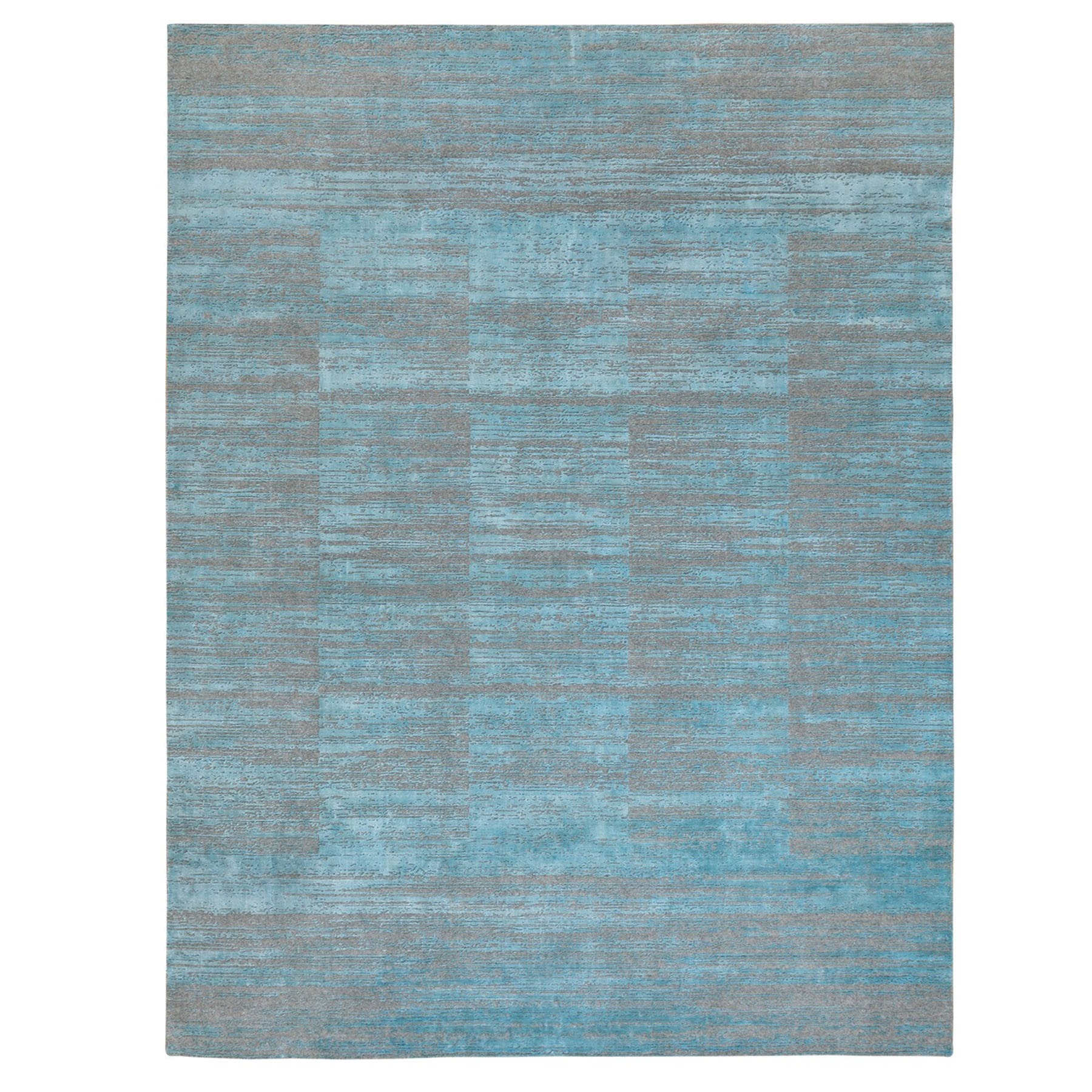 Modern Collection Hand Loomed Blue Rug No: 1124232