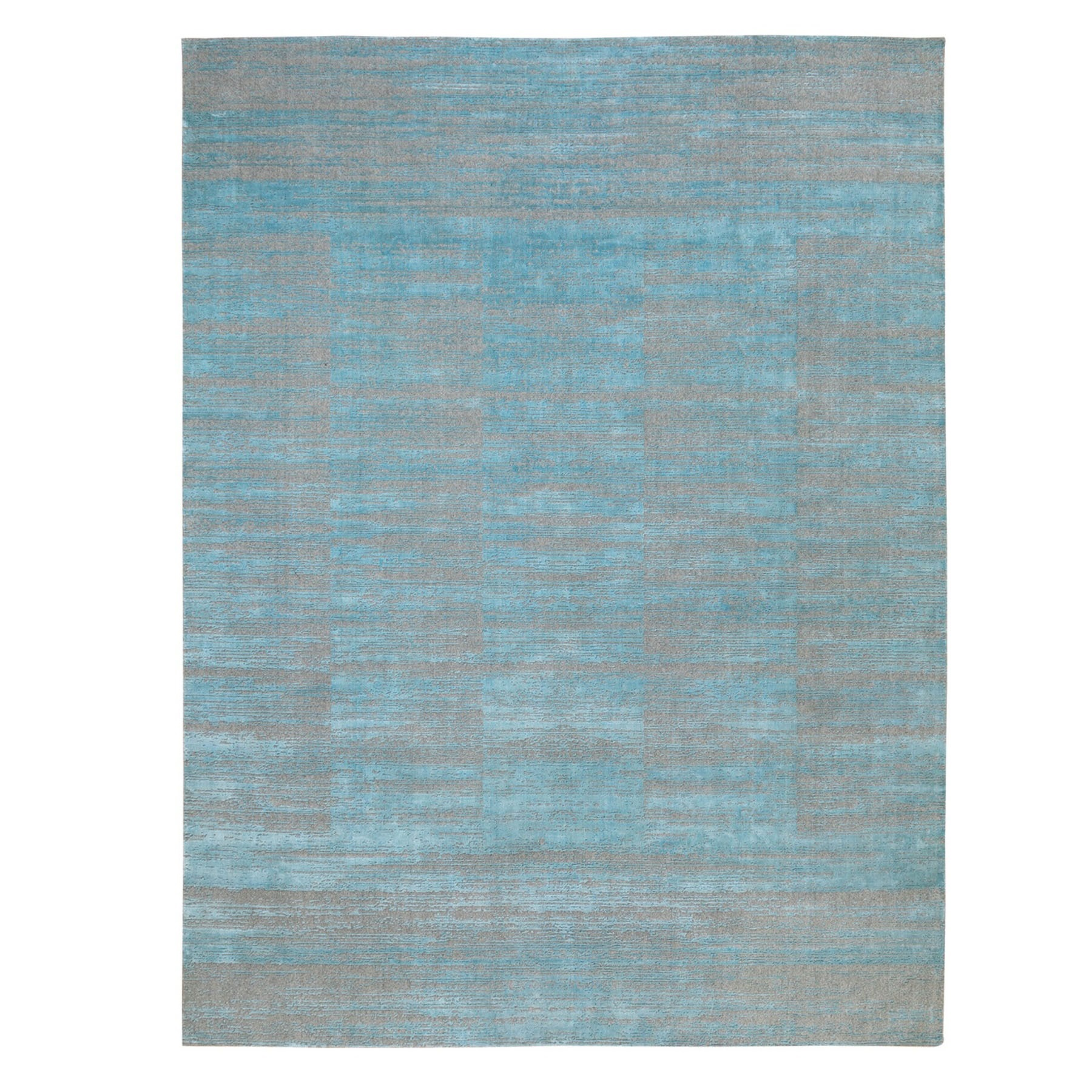 Modern Collection Hand Loomed Blue Rug No: 1124234