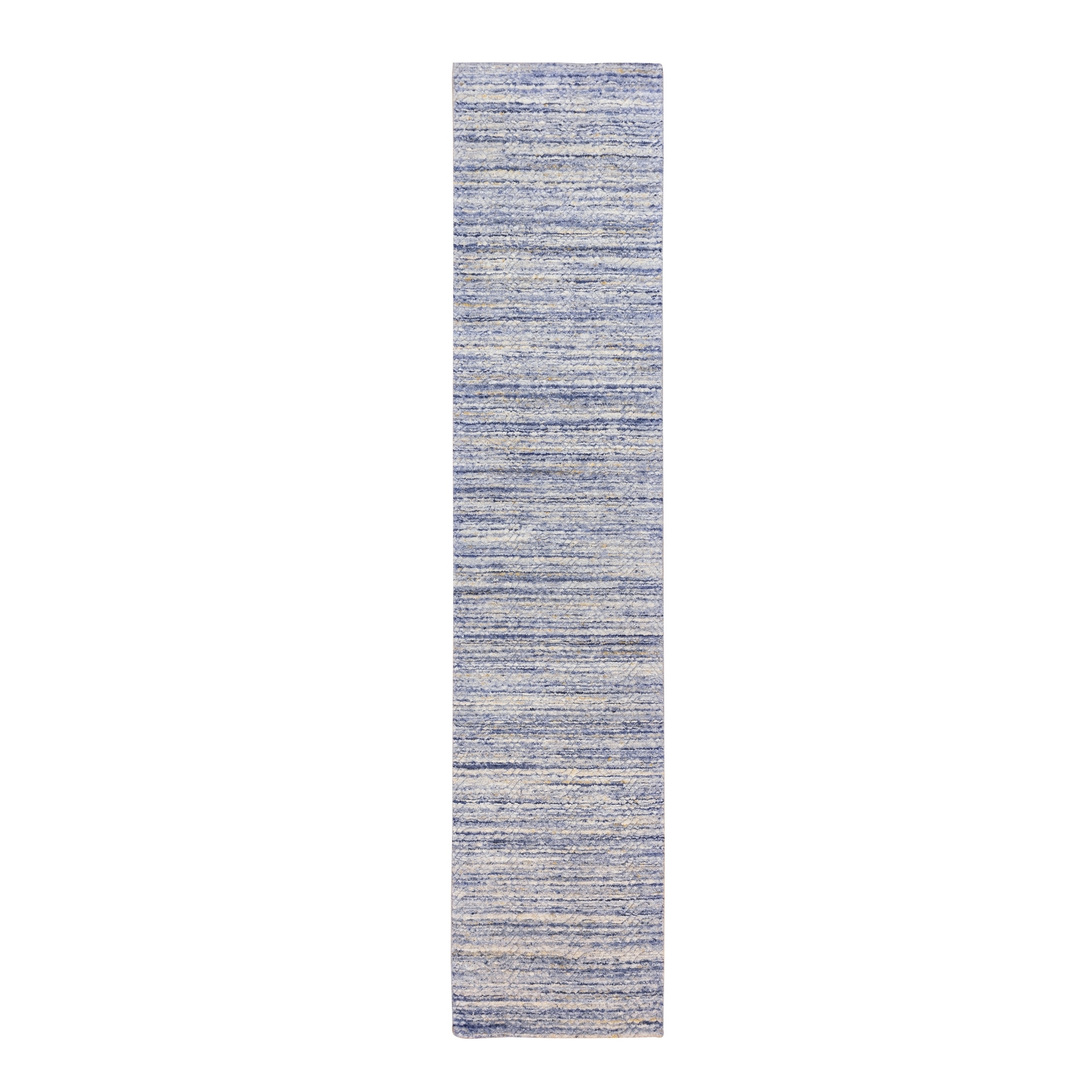 Mid Century Modern Collection Hand Loomed Blue Rug No: 1124242