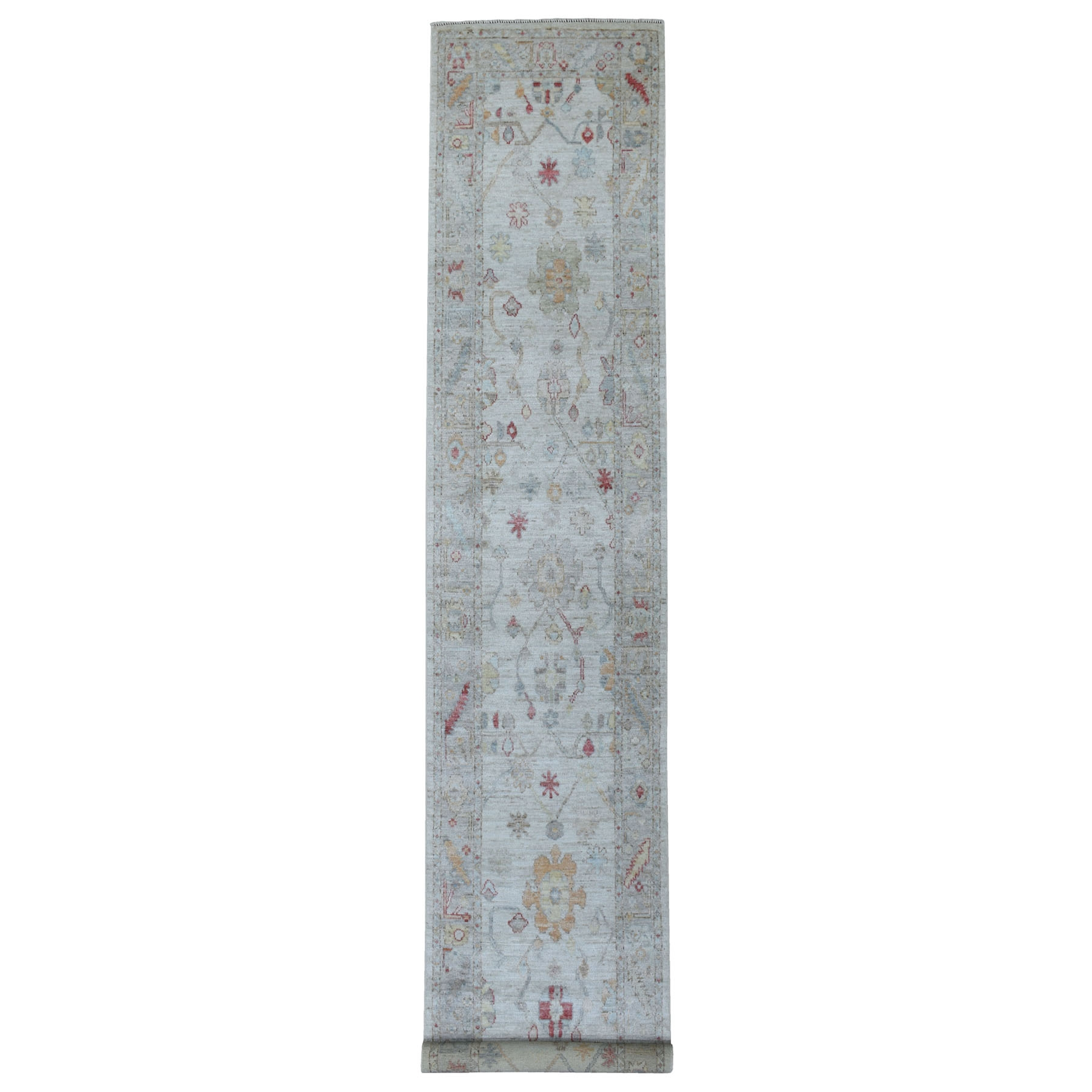 Agra And Turkish Collection Hand Knotted Grey Rug No: 1112178