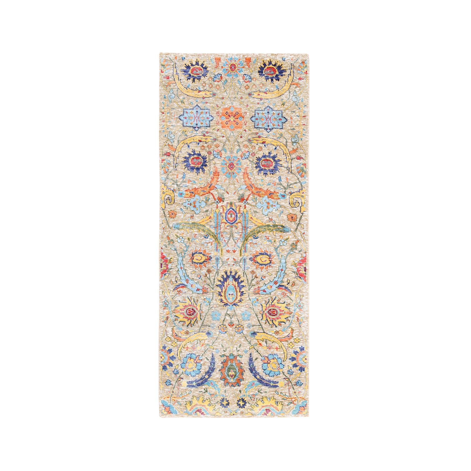 Transitional Hand Knotted Brown Rug No: 1124602