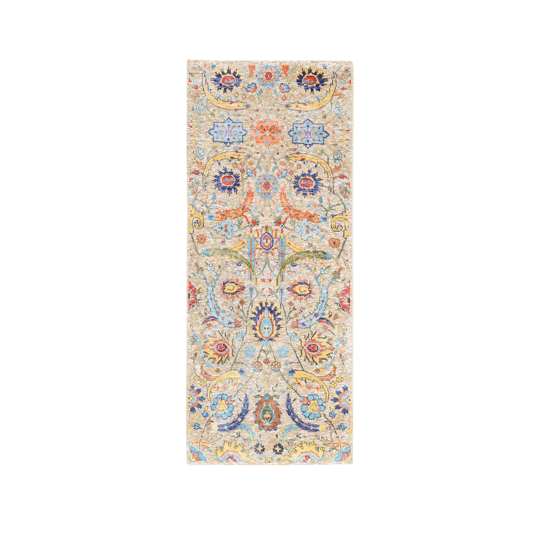 Transitional Hand Knotted Brown Rug No: 1124594