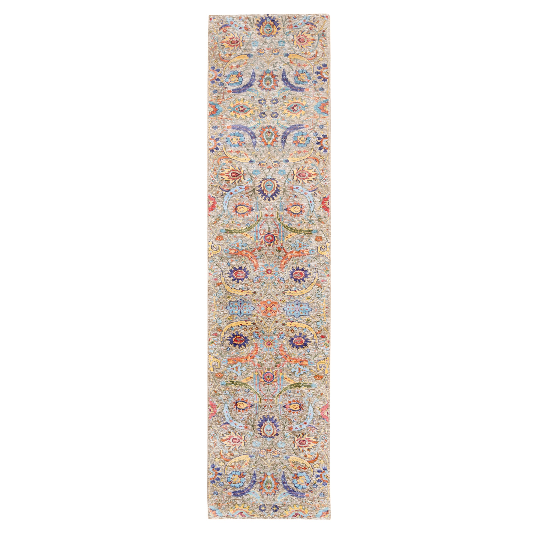 Transitional Hand Knotted Brown Rug No: 1124584