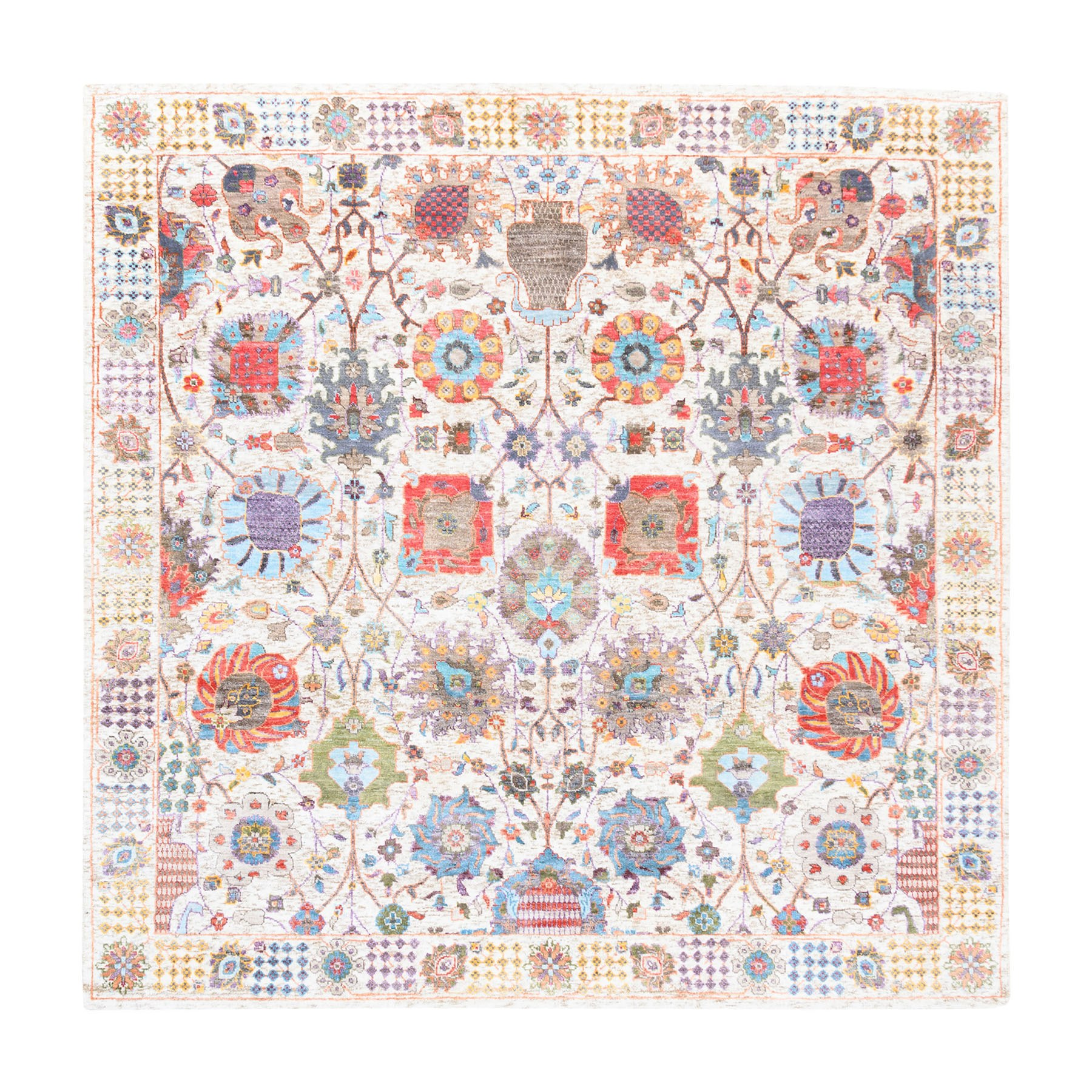 Transitional Hand Knotted Ivory Rug No: 1124564
