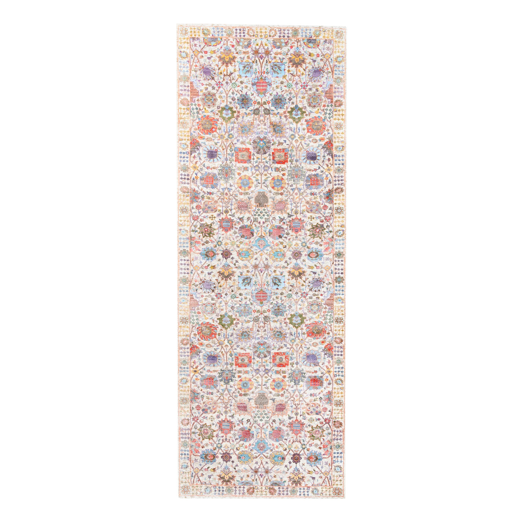 Transitional Hand Knotted Ivory Rug No: 1124570