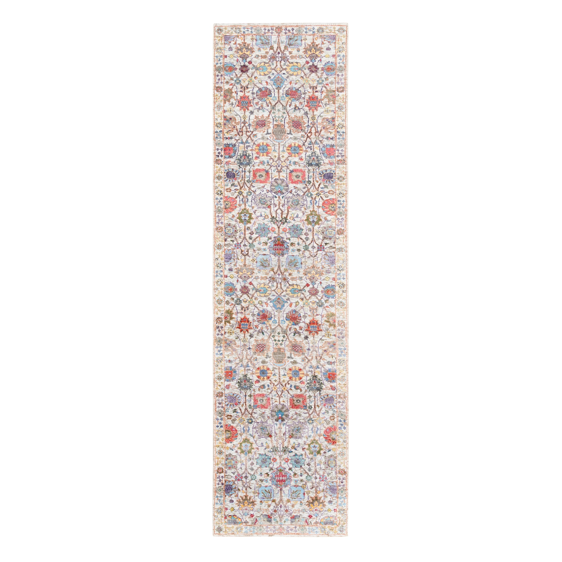 Transitional Hand Knotted Ivory Rug No: 1124588