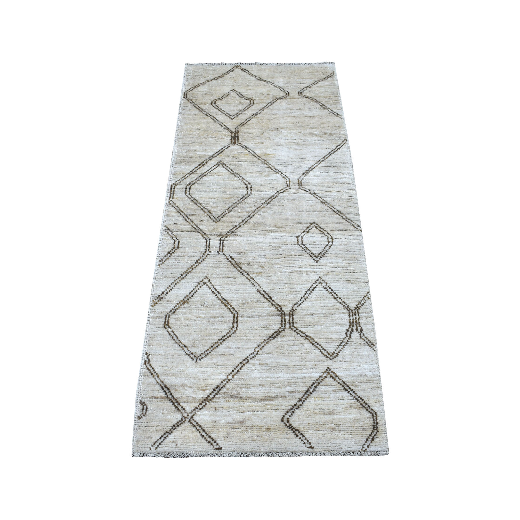 Nomadic And Village Collection Hand Knotted Ivory Rug No: 1112834