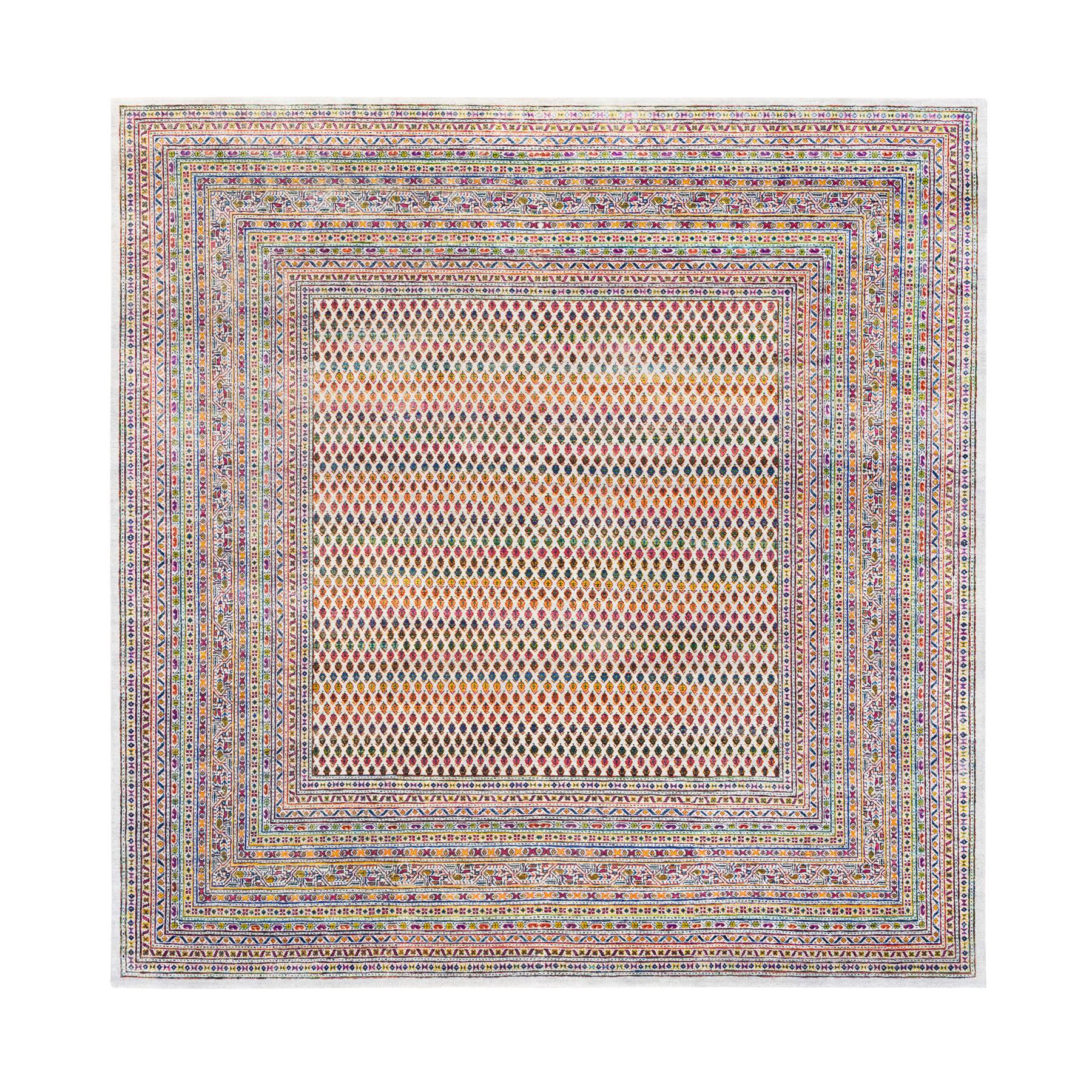 Mid Century Modern Collection Hand Knotted Beige Rug No: 1124620