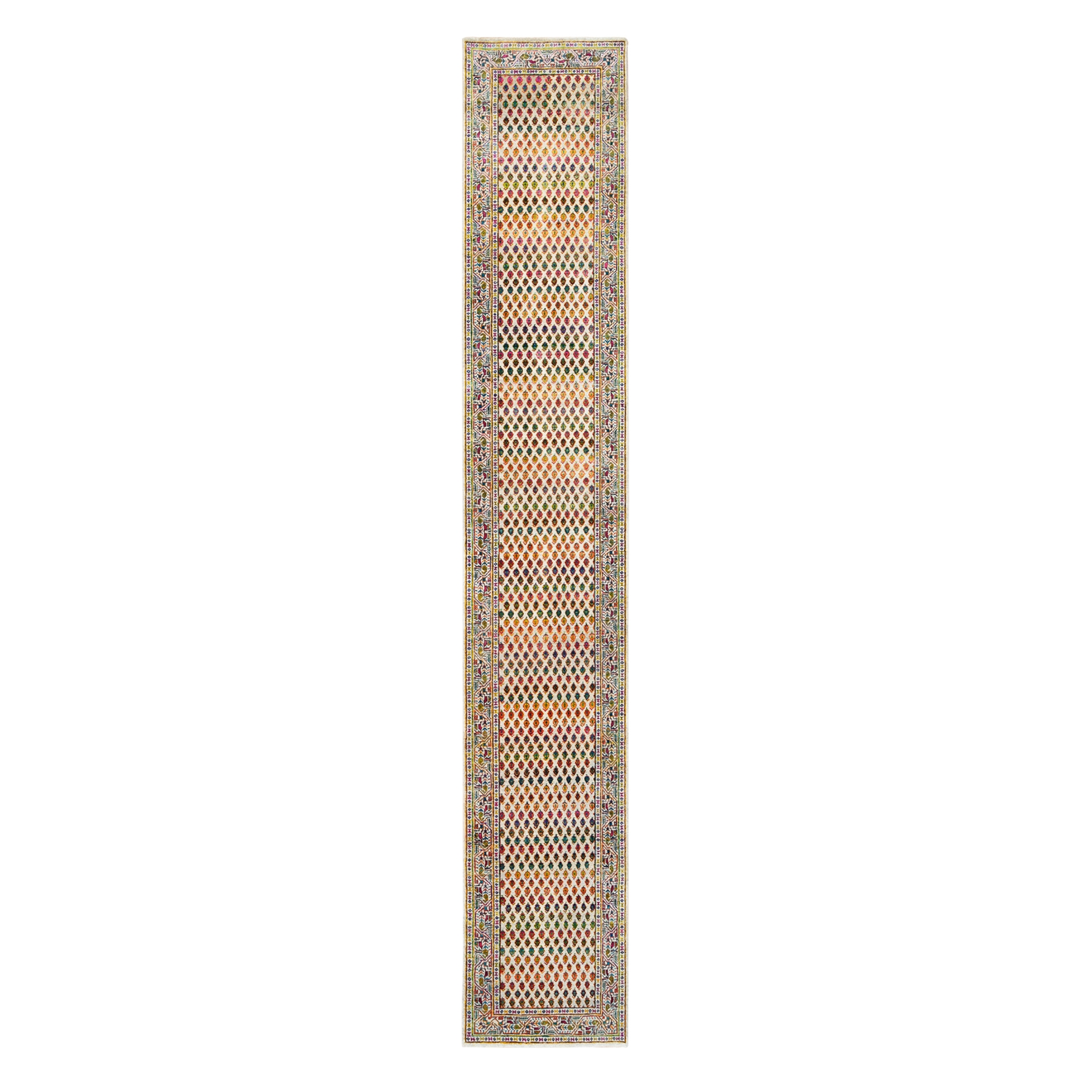 Mid Century Modern Collection Hand Knotted Beige Rug No: 1124656