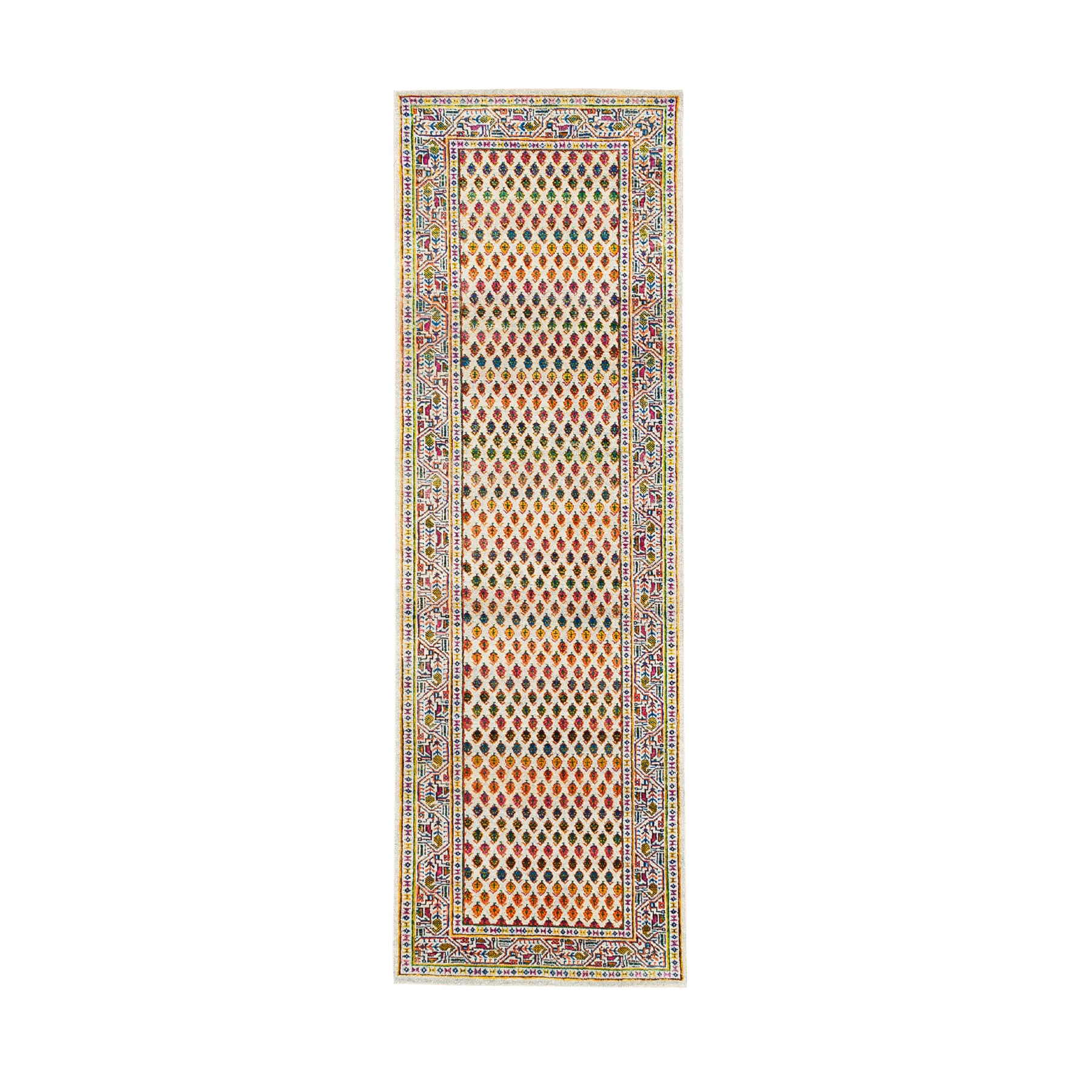 Mid Century Modern Collection Hand Knotted Beige Rug No: 1124662