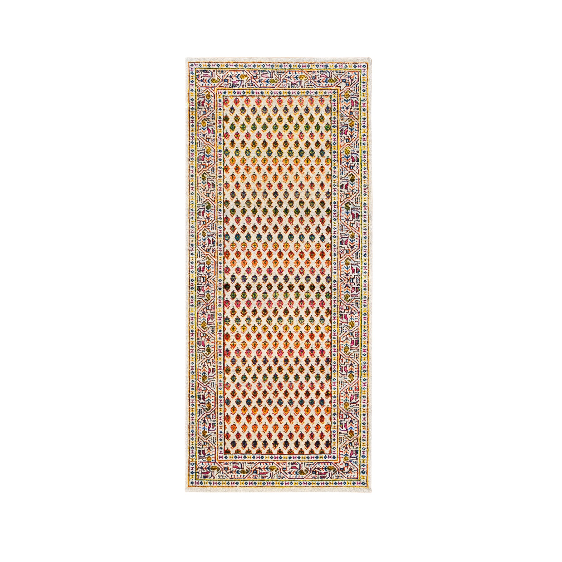 Mid Century Modern Collection Hand Knotted Beige Rug No: 1124670