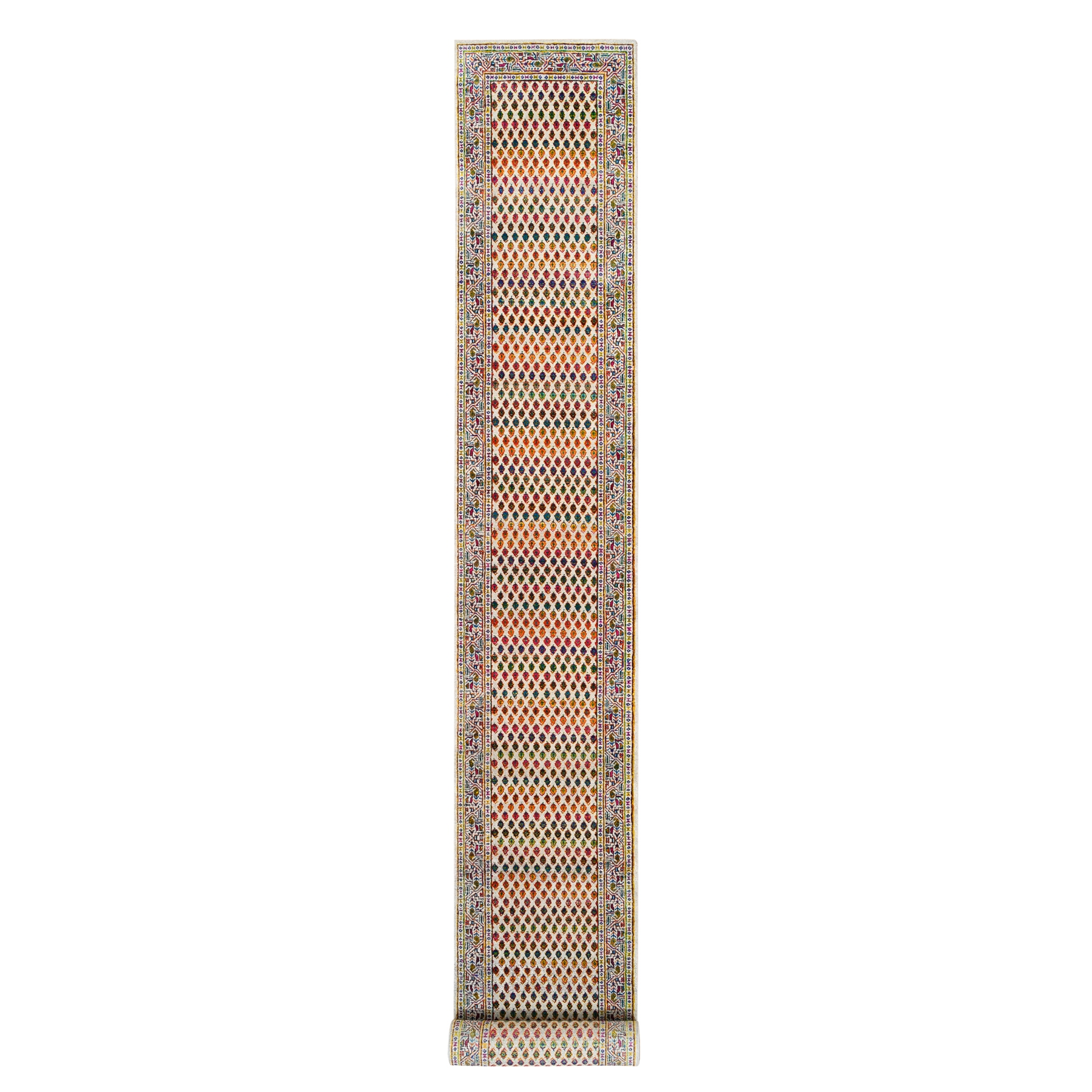 Mid Century Modern Collection Hand Knotted Beige Rug No: 1124674