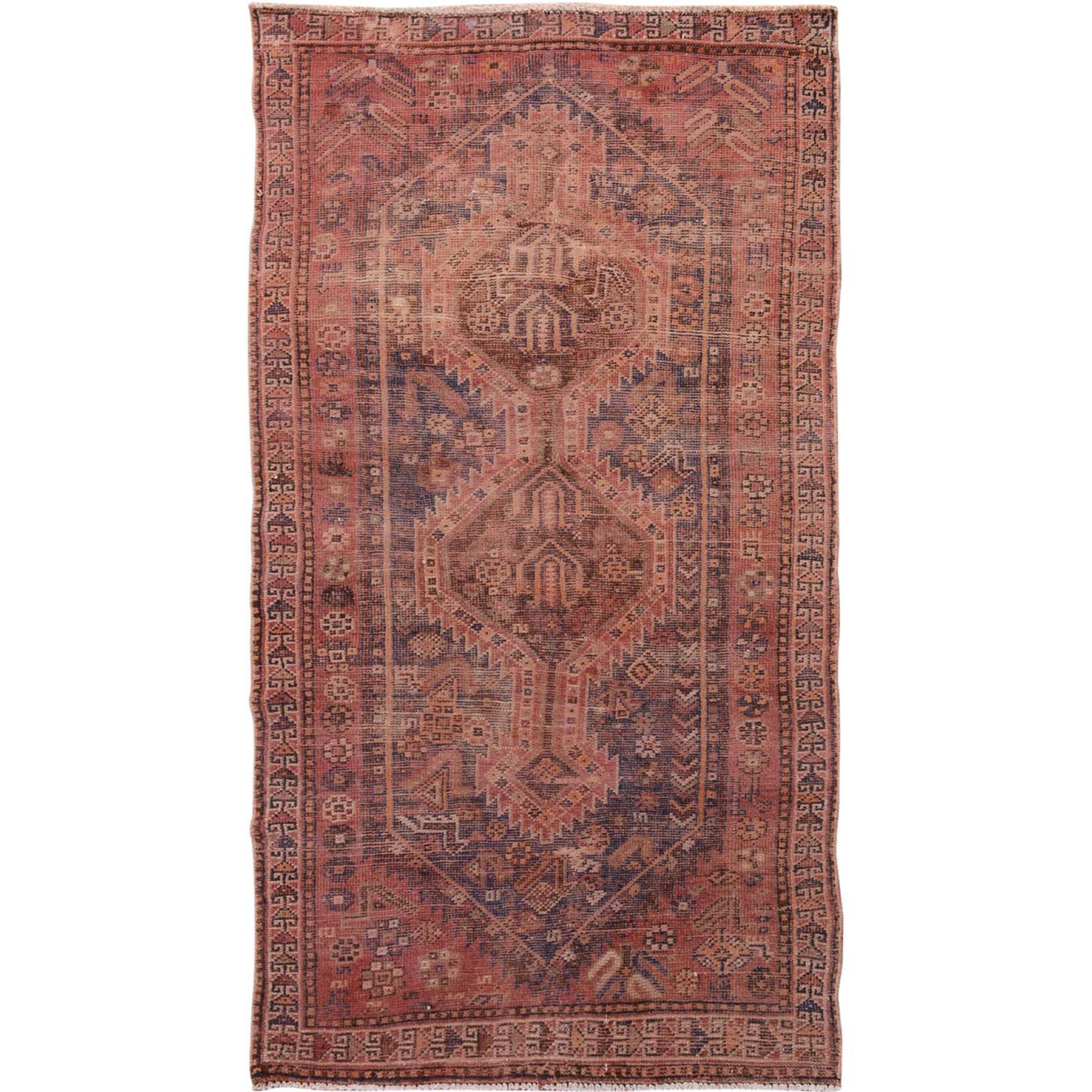 Fetneh Collection And Vintage Overdyed Collection Hand Knotted Red Rug No: 1114422