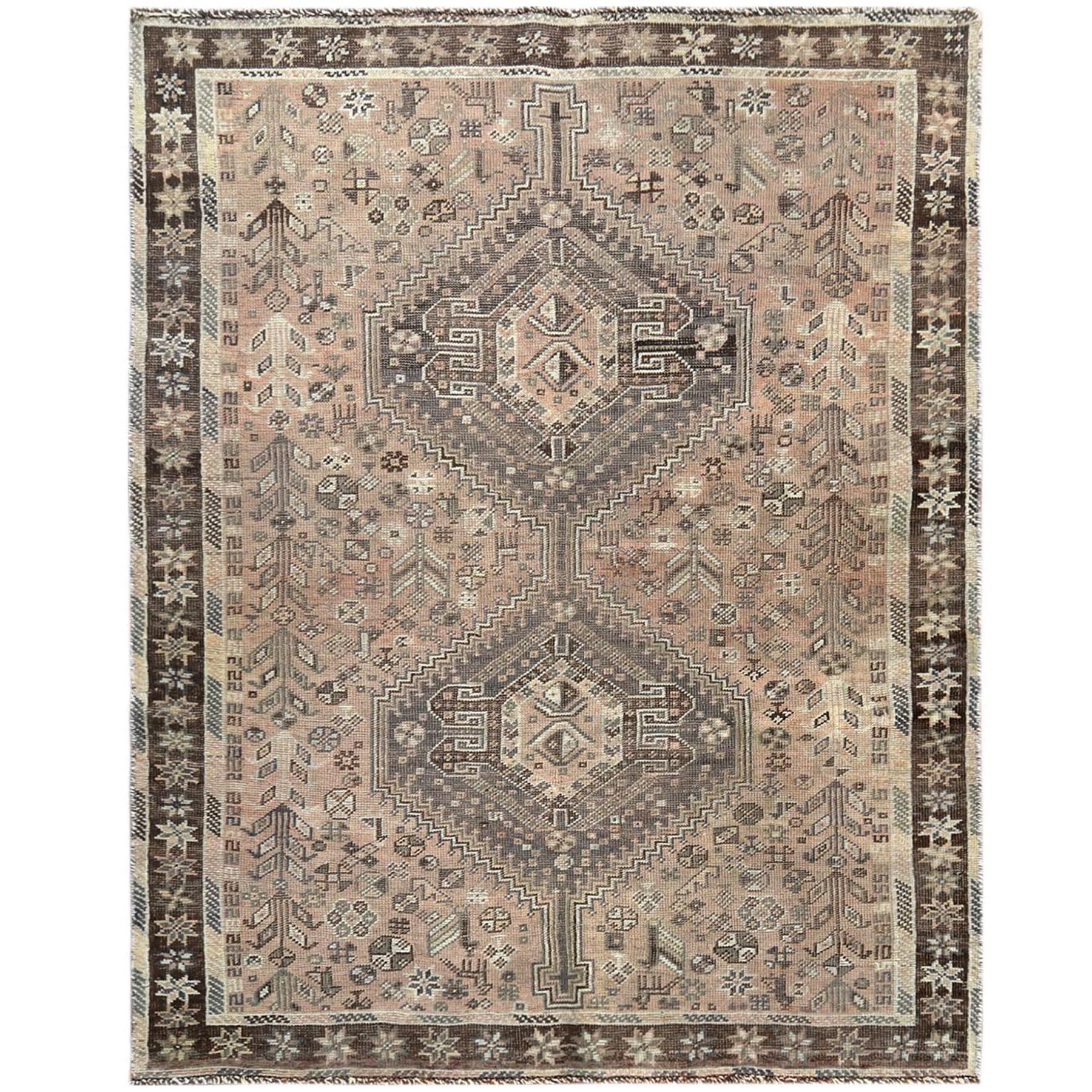 Fetneh Collection And Vintage Overdyed Collection Hand Knotted Brown Rug No: 1121210