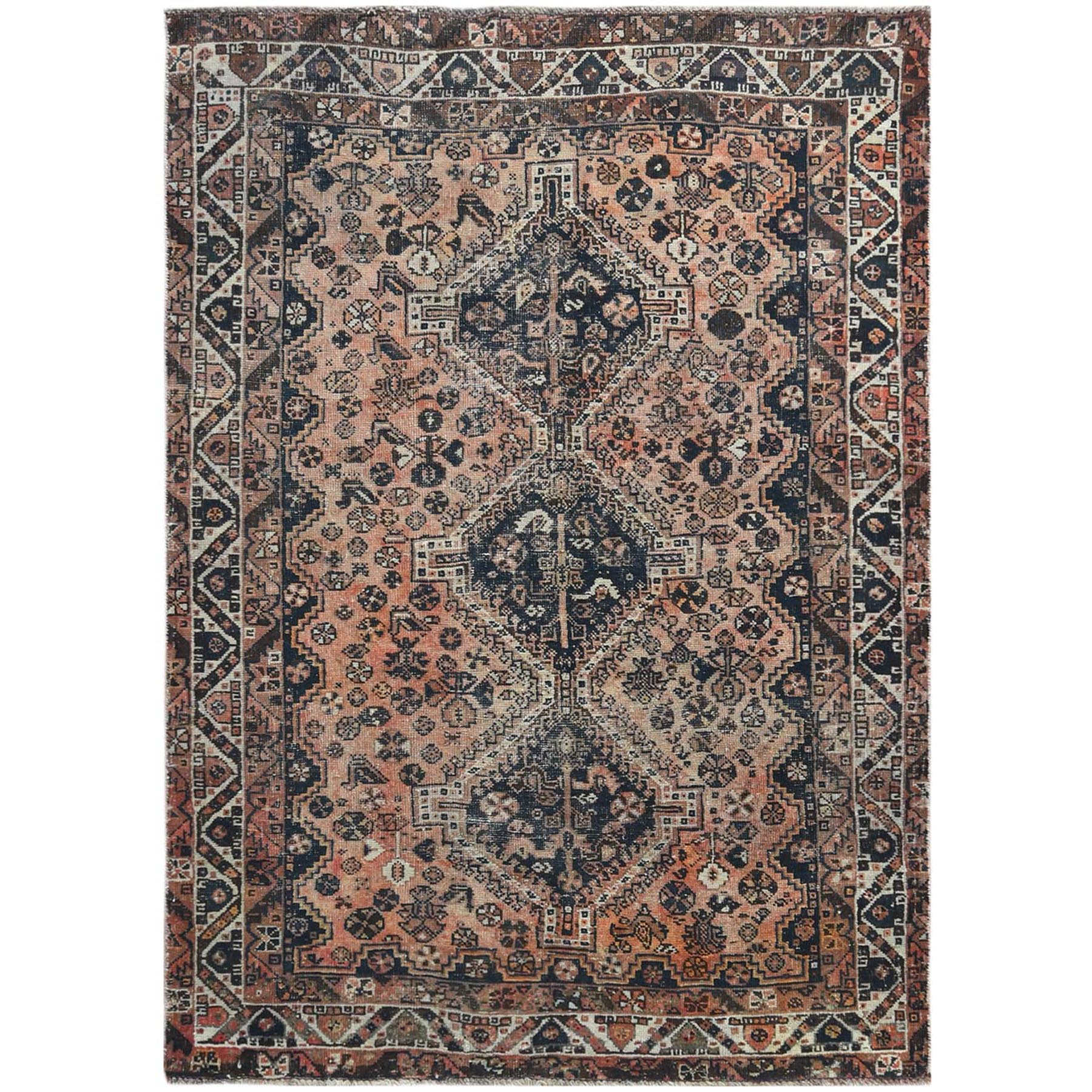 Fetneh Collection And Vintage Overdyed Collection Hand Knotted Brown Rug No: 1121216