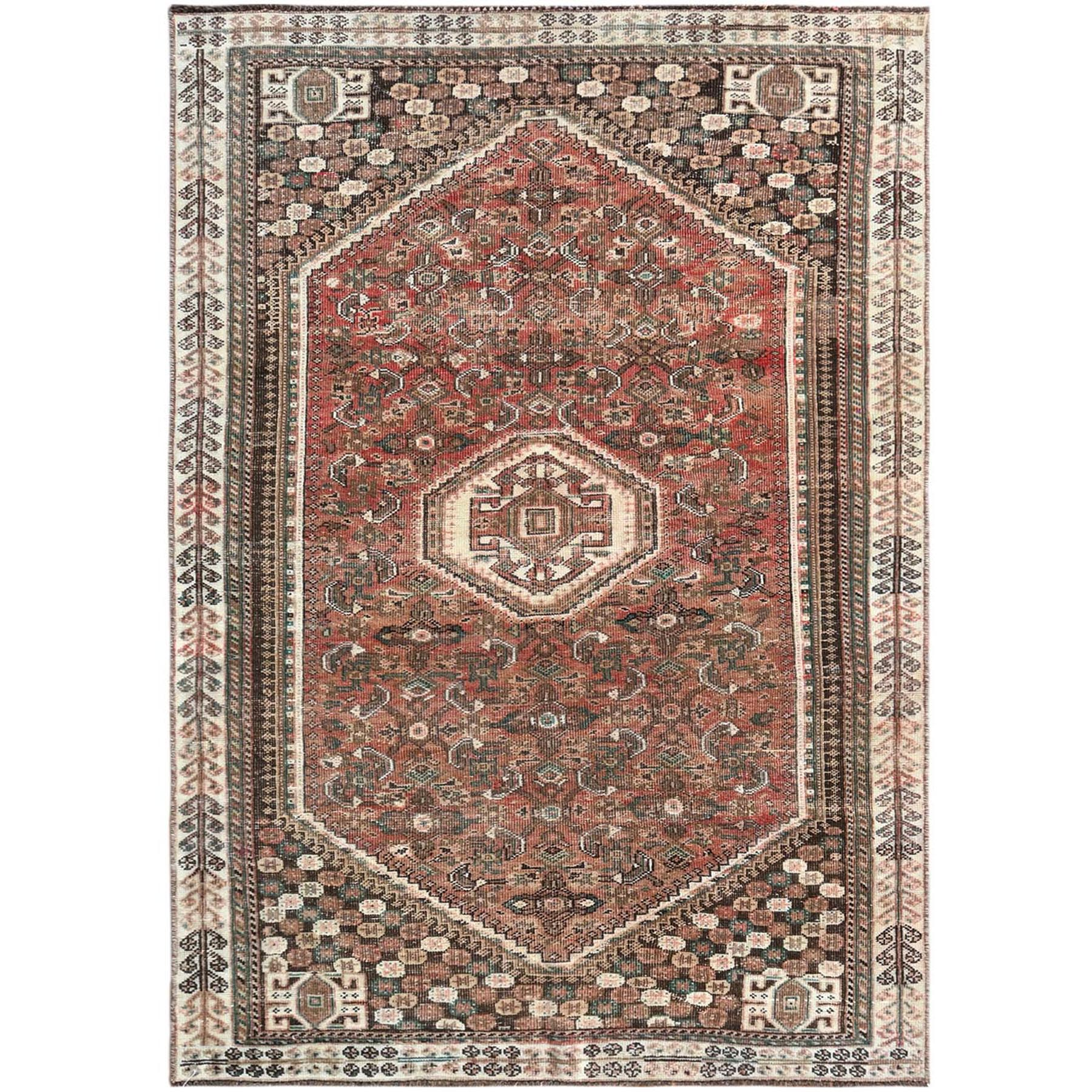 Fetneh Collection And Vintage Overdyed Collection Hand Knotted Red Rug No: 1121232