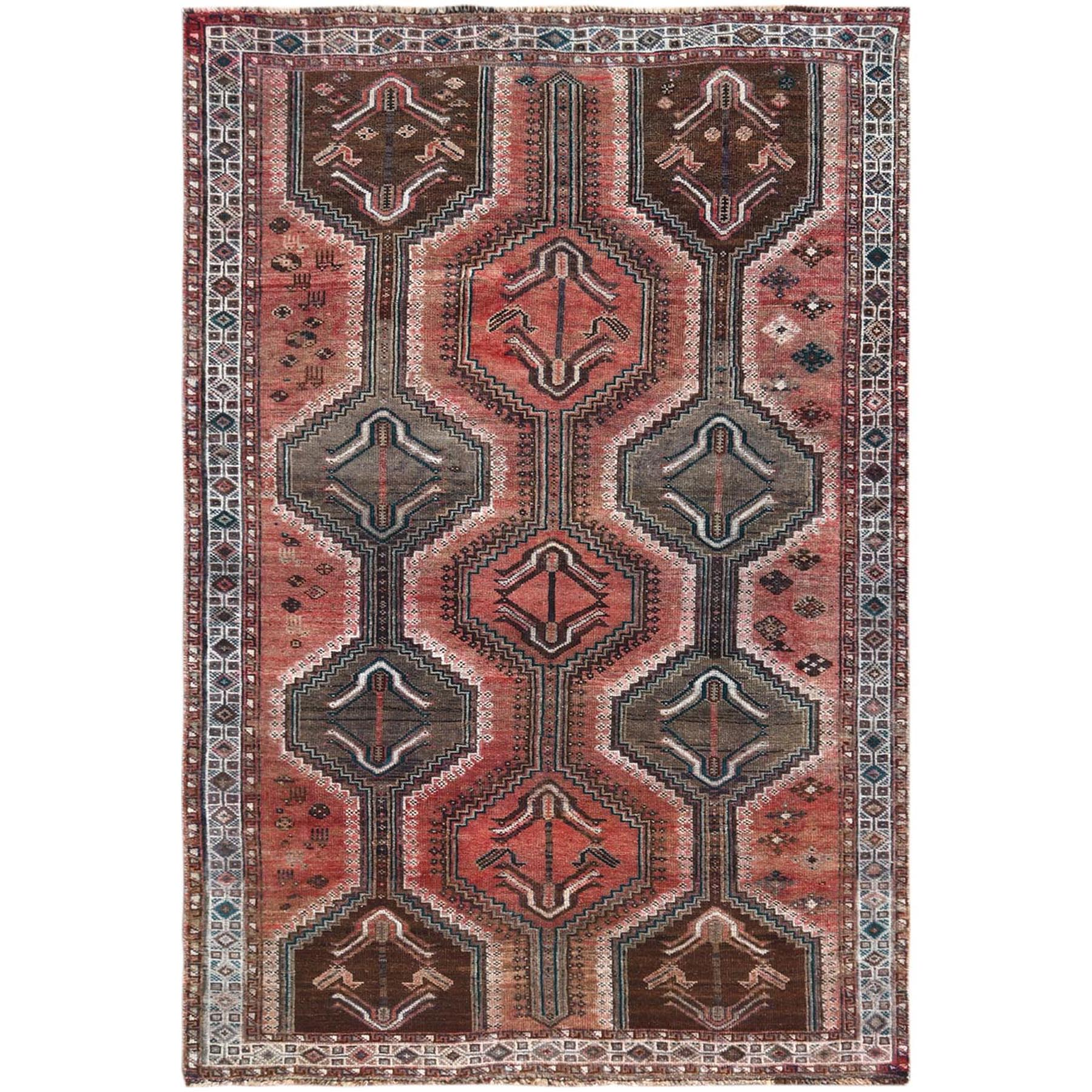 Fetneh Collection And Vintage Overdyed Collection Hand Knotted Red Rug No: 1121234