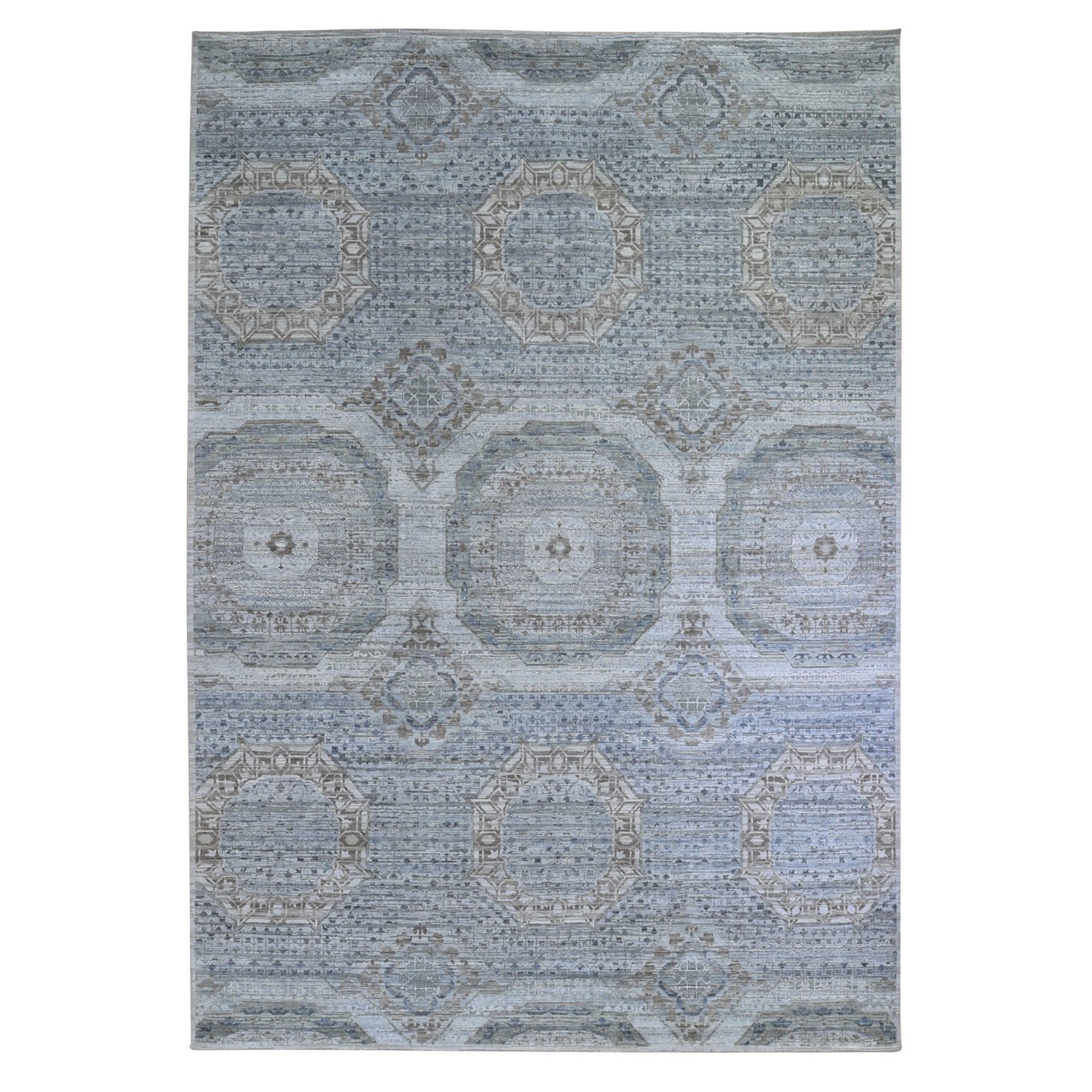 Intricate Collection Hand Knotted Grey Rug No: 1132748