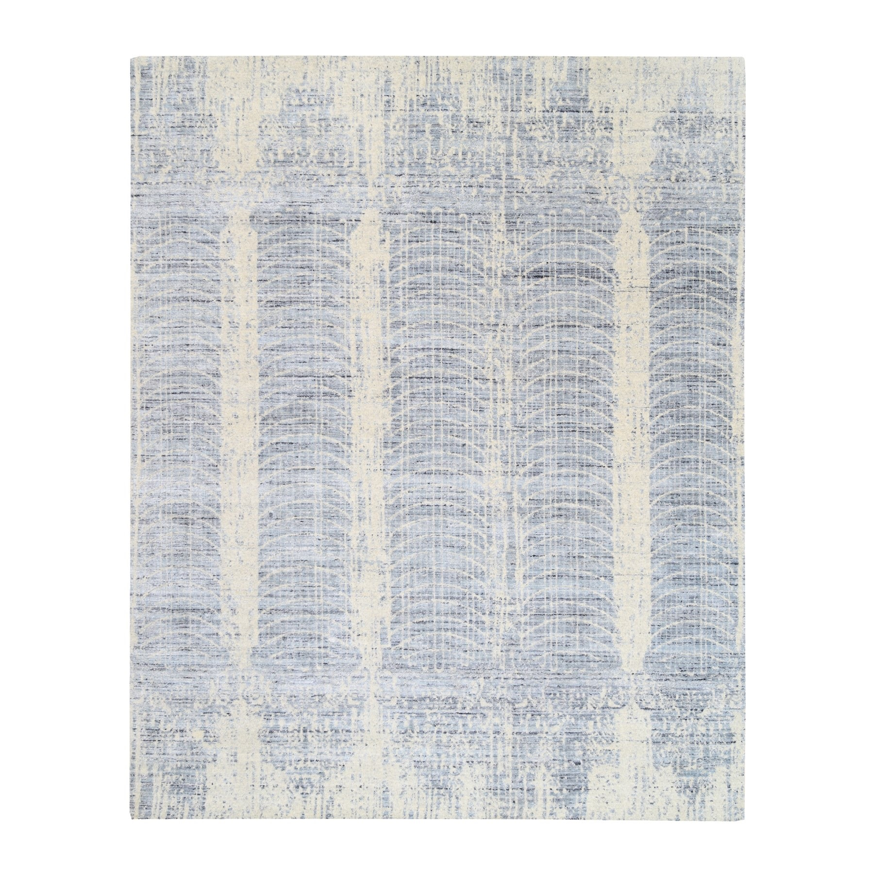 Mid Century Modern Collection Hand Loomed Beige Rug No: 1124516